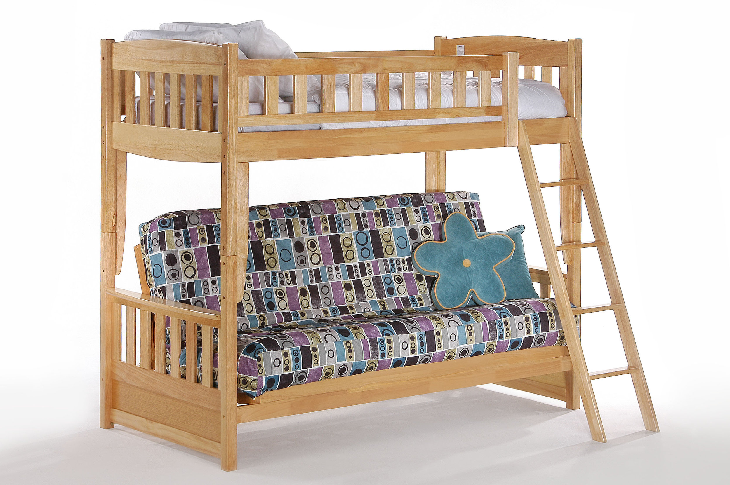 Natural Futon Bunk Bed By Night And Day