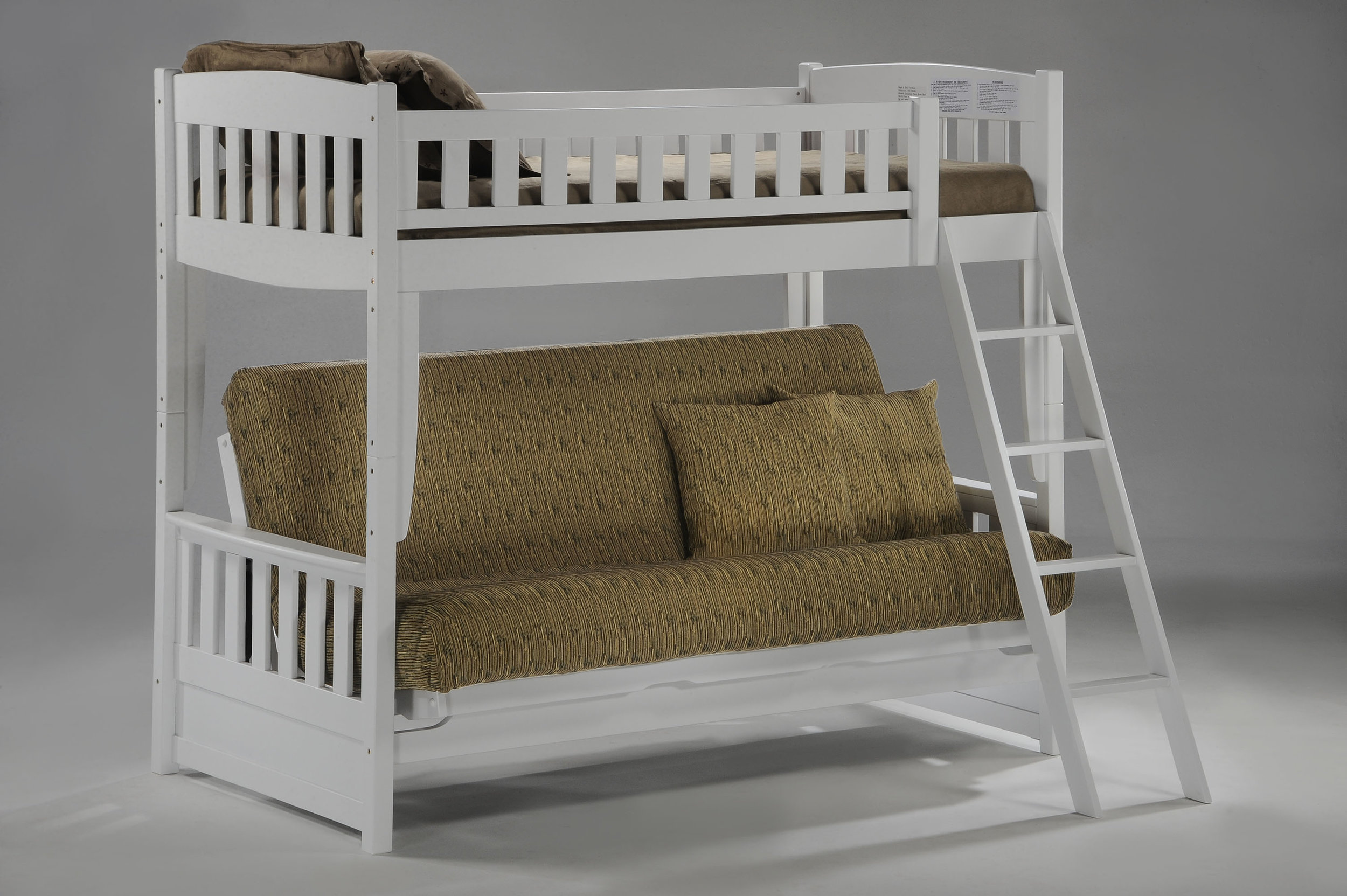 White Futon Bunk Bed By Night And Day Furniture The Company