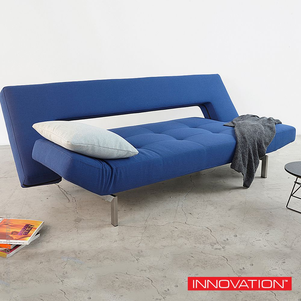 Innovation Living Wing Futon Sofa Or Chair In Shire Blue The Company