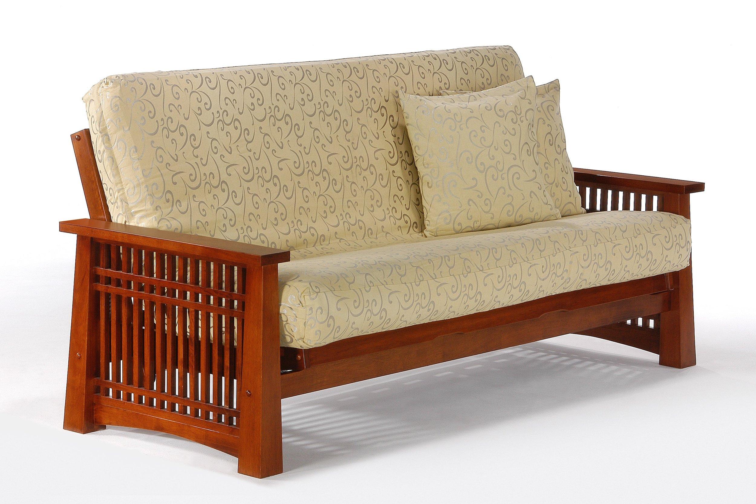 Cherry Complete Futon Sofa Full Size