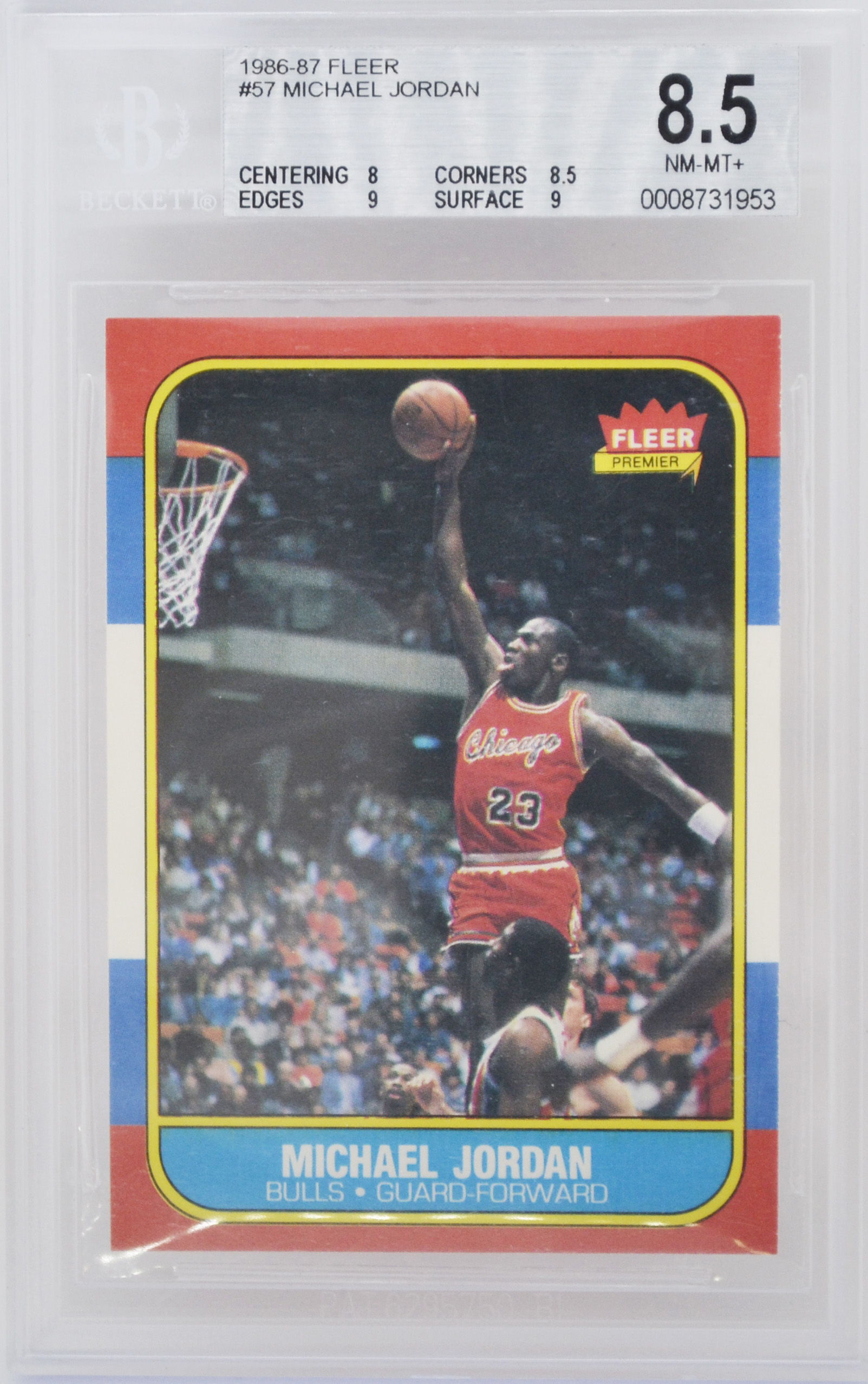 1986 fleer michael jordan rookie card