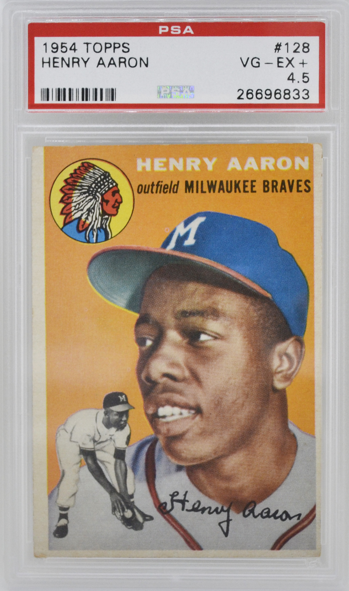 1954 Topps Hank Aaron Rookie Card Rc Psa 45 Top Sports Cards