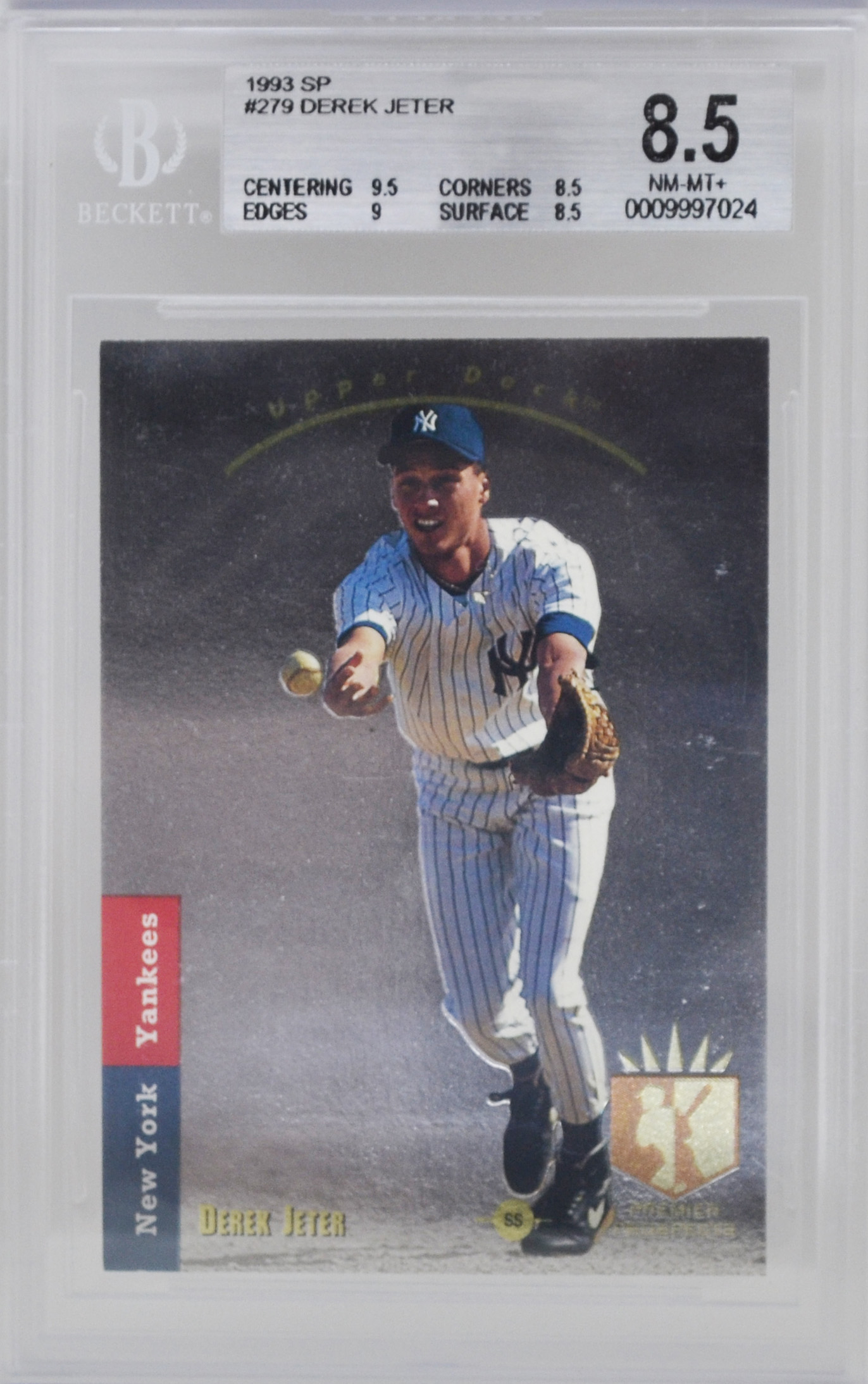 Traded 1993 Sp Derek Jeter Rookie Card Rc Bgs 85 Top Sports Cards