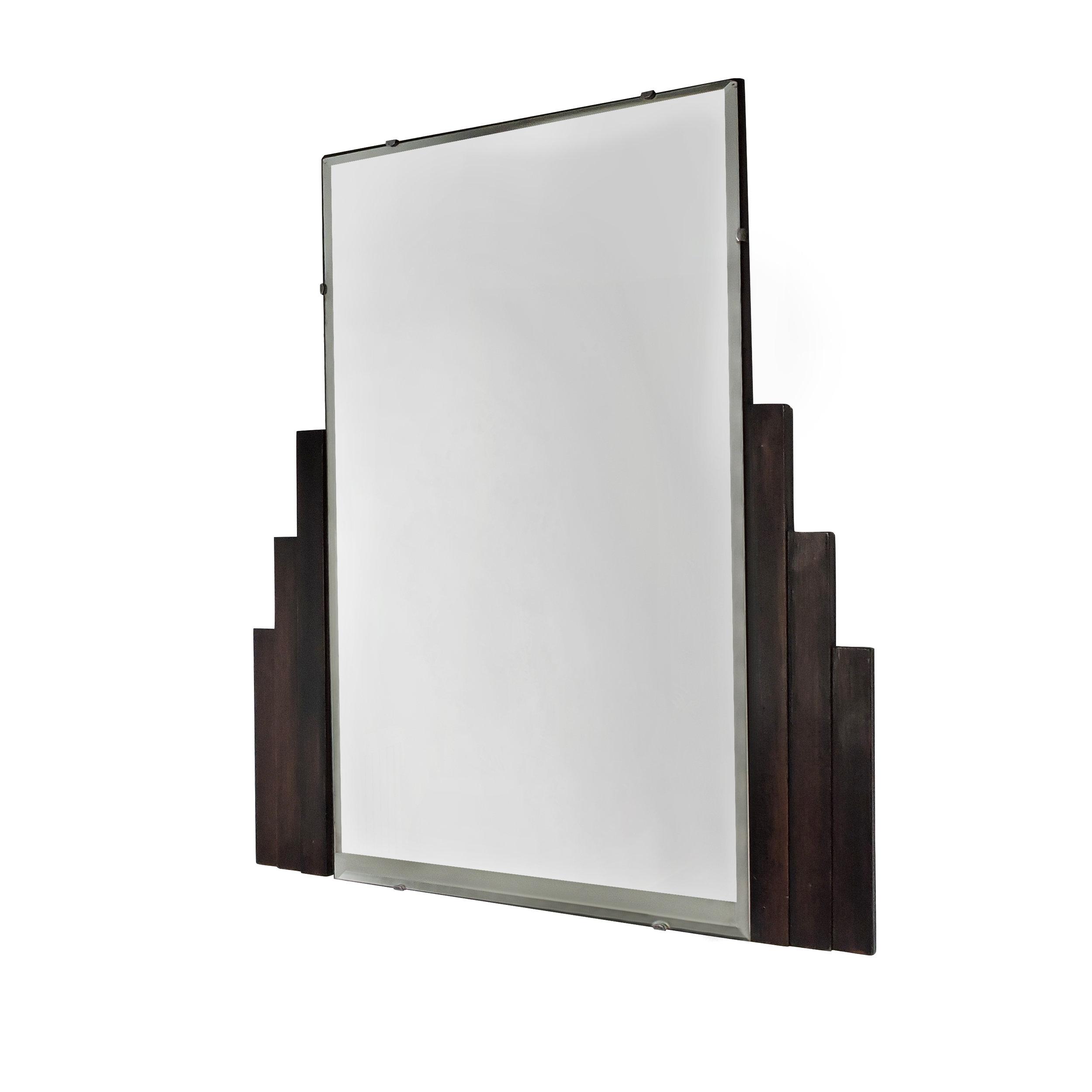 Vintage Art Deco Mirror Bull Tash