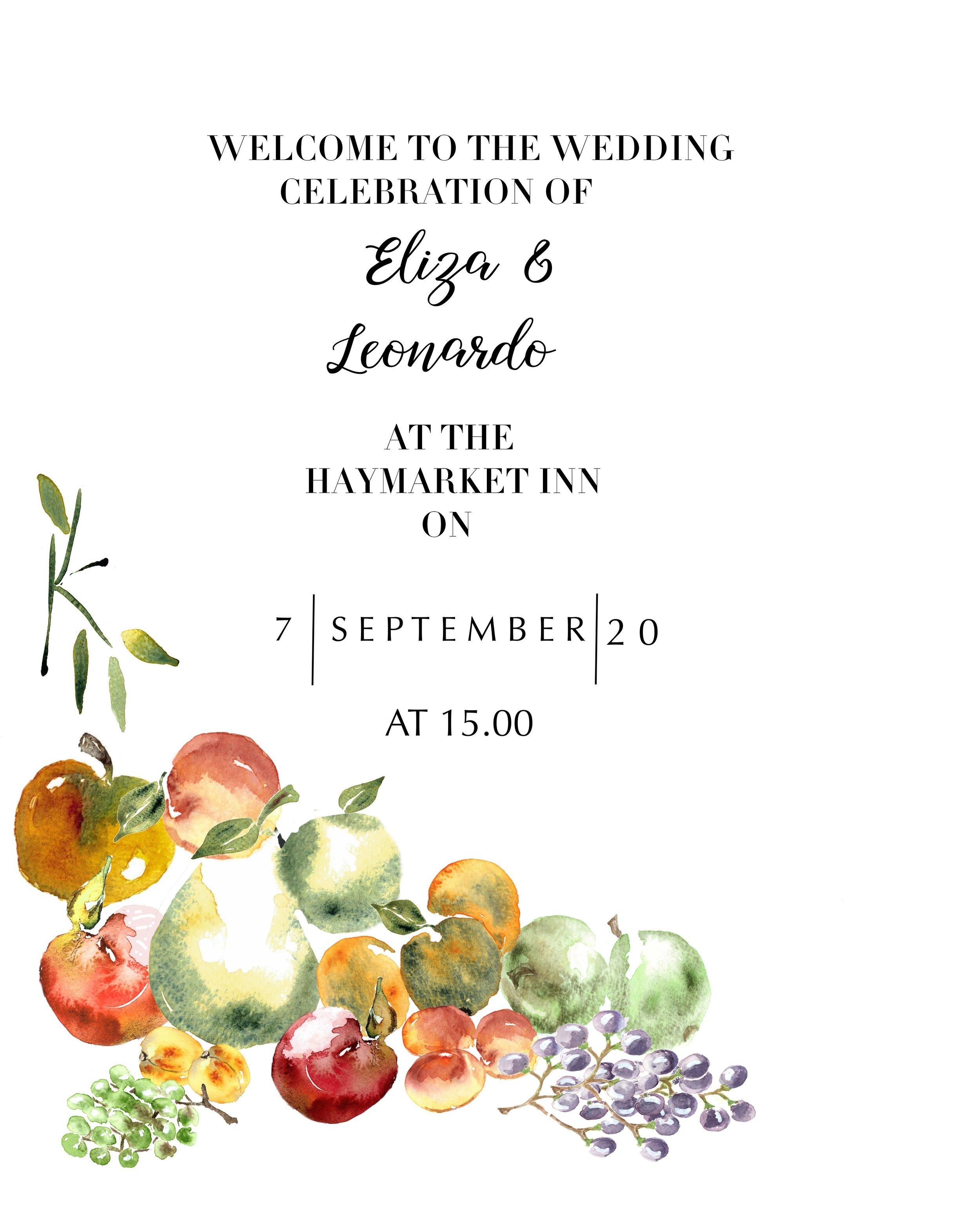 Watercolor Fruit Invitation Card Template Anna Hedeklint Design Illustration