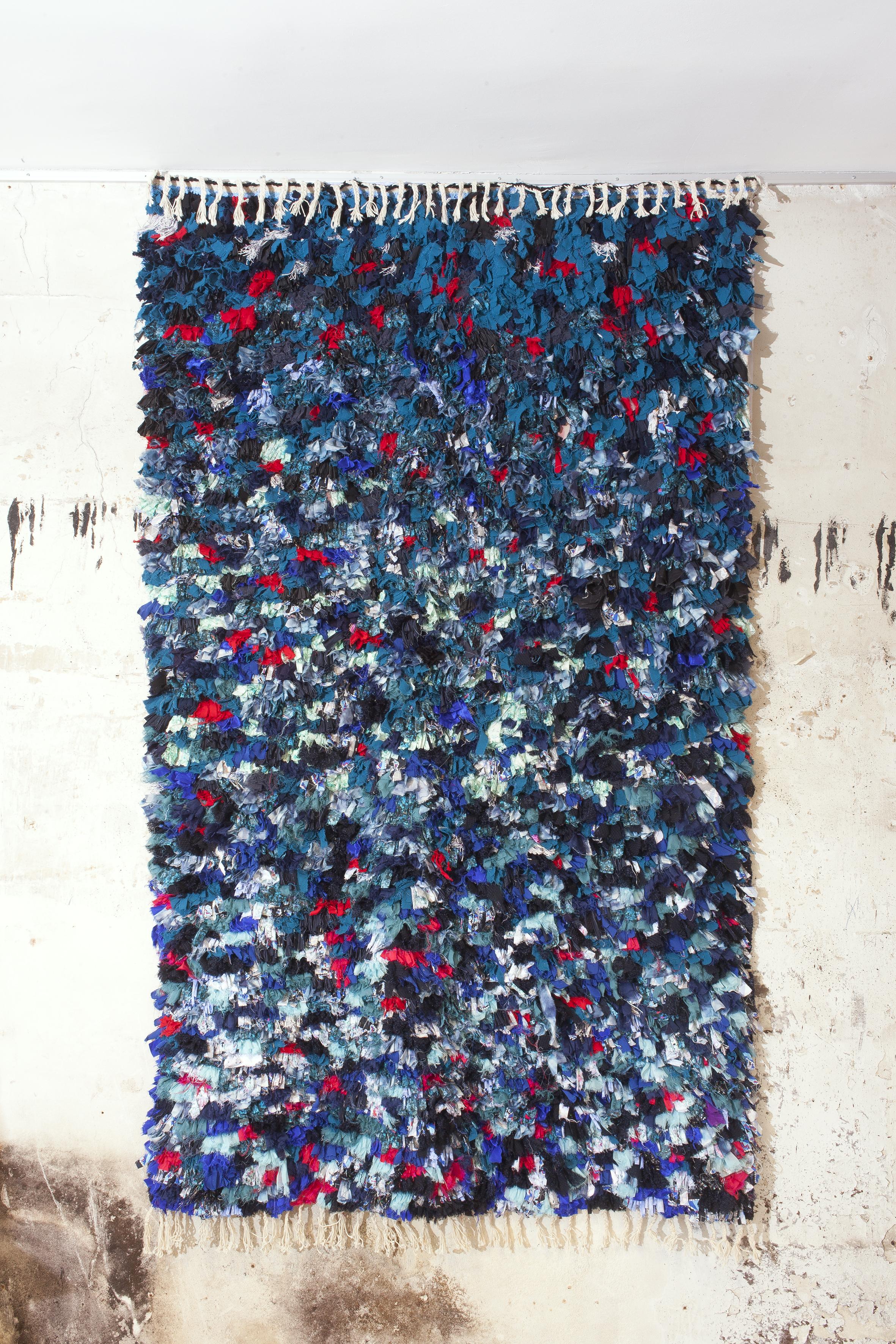 Blue Boucharouite Carpet Calla