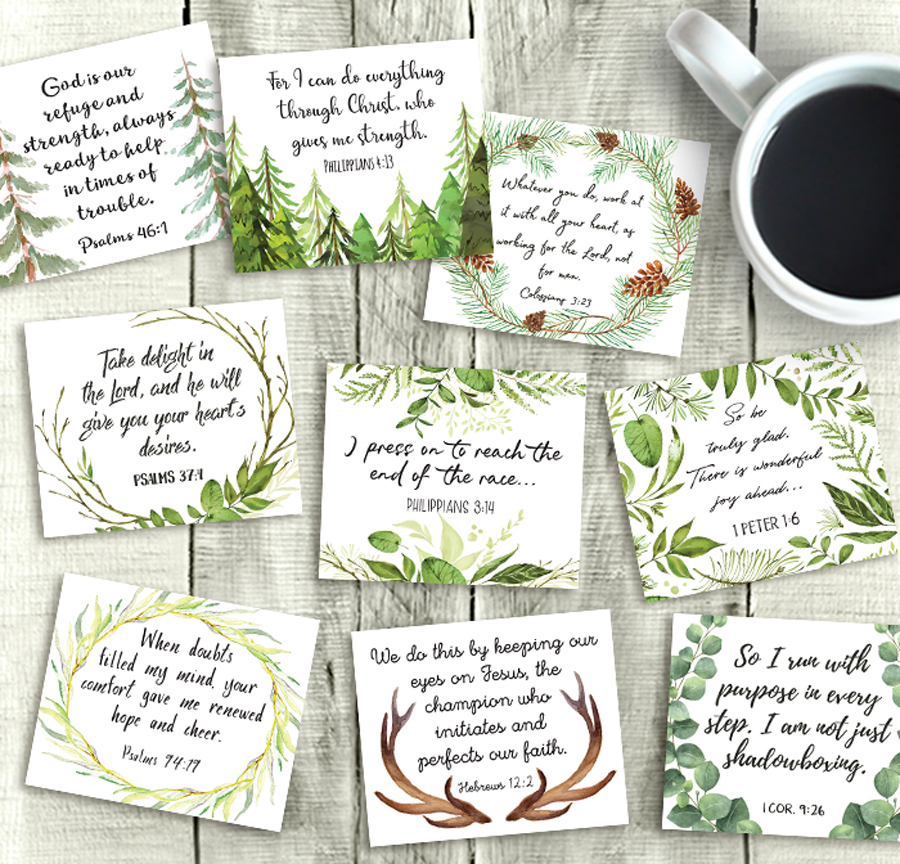 picture relating to Printable Bible Verses Pdf named Rustic Bible Verse Playing cards, Printable 3\