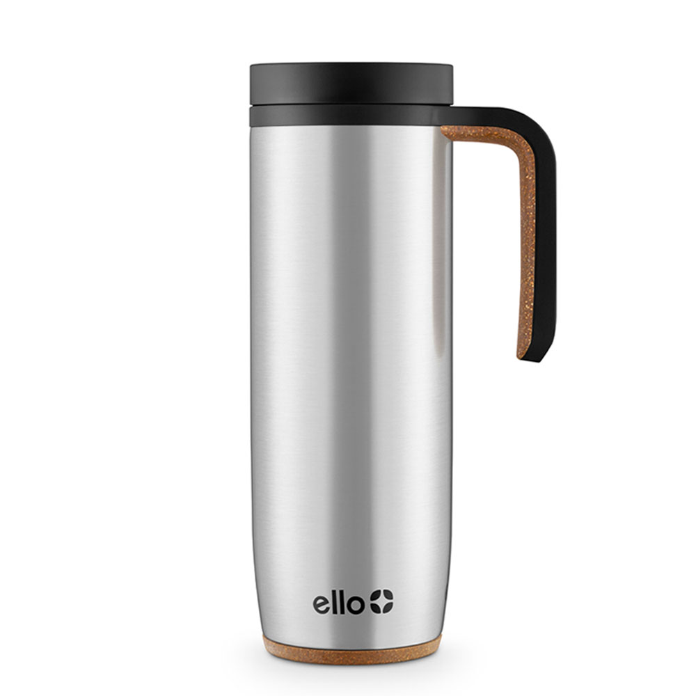 18 Oz Silver Ello Magnet Vacuum Insulated Stainless Steel Travel Mug