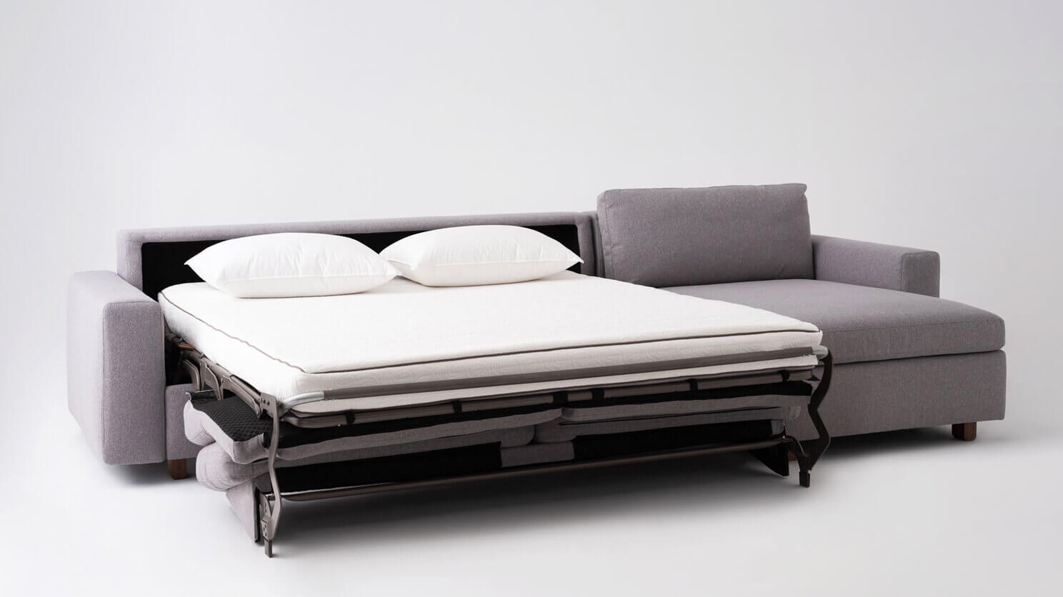 Reva Sectional Storage Sofa Bed Raf Queen Size Mattress M