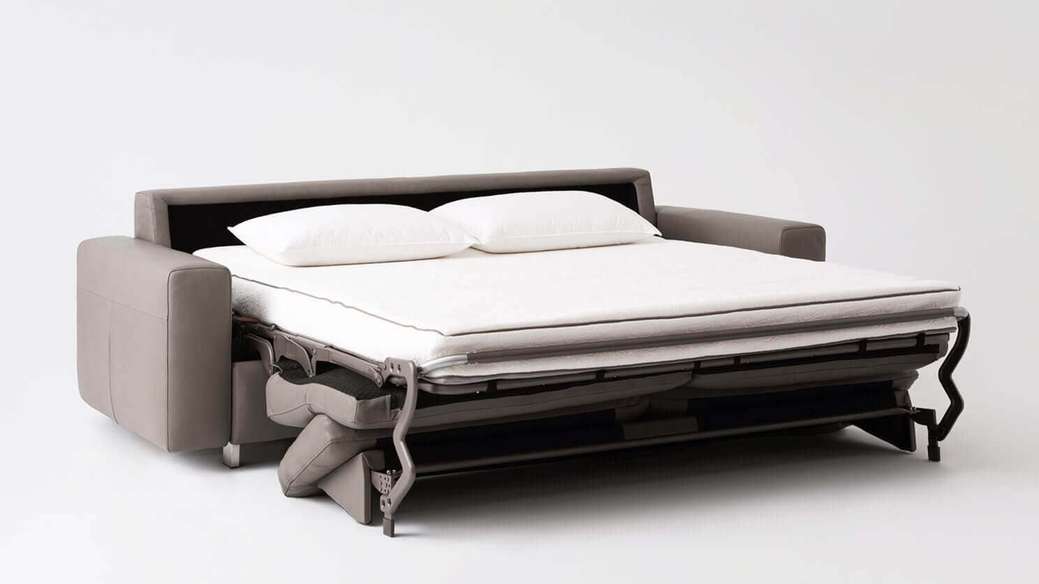 Reeva Sofa Bed - Queen Size Mattress - Leather — M Collection Home
