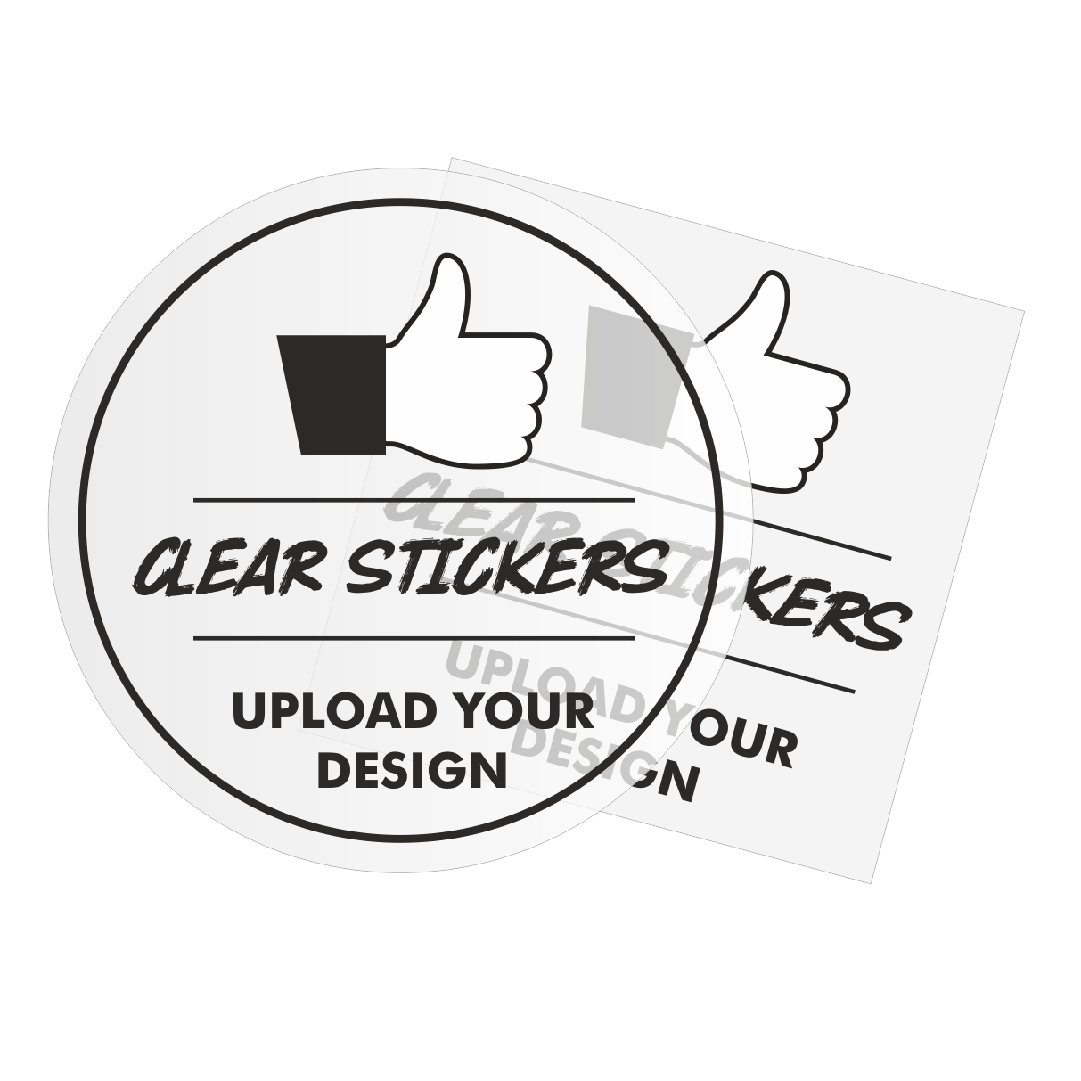 Clear Stickers — Stickers and Decals - Custom Sticker Printing Company and  Vinyl Decal Makers
