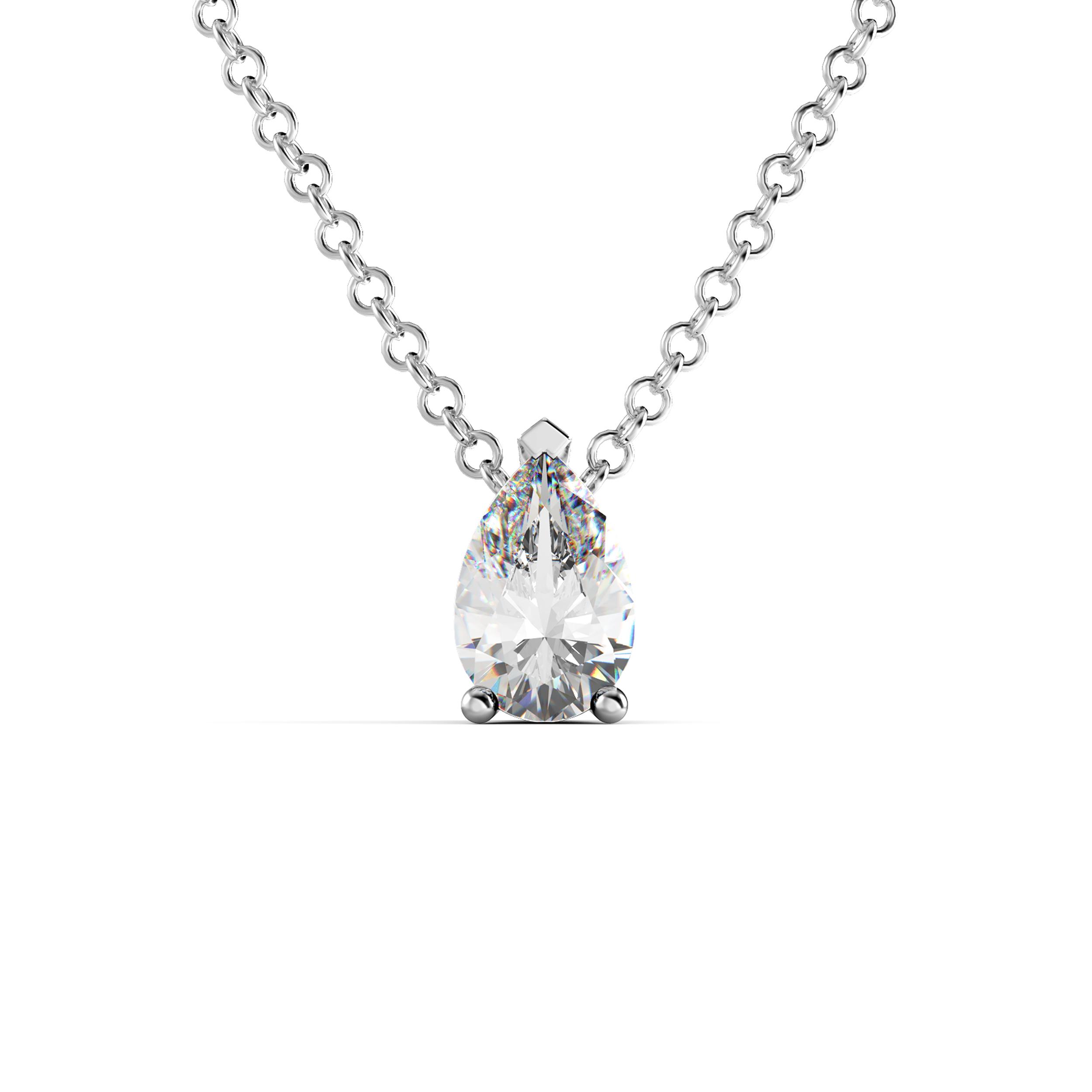 collier diamant poire