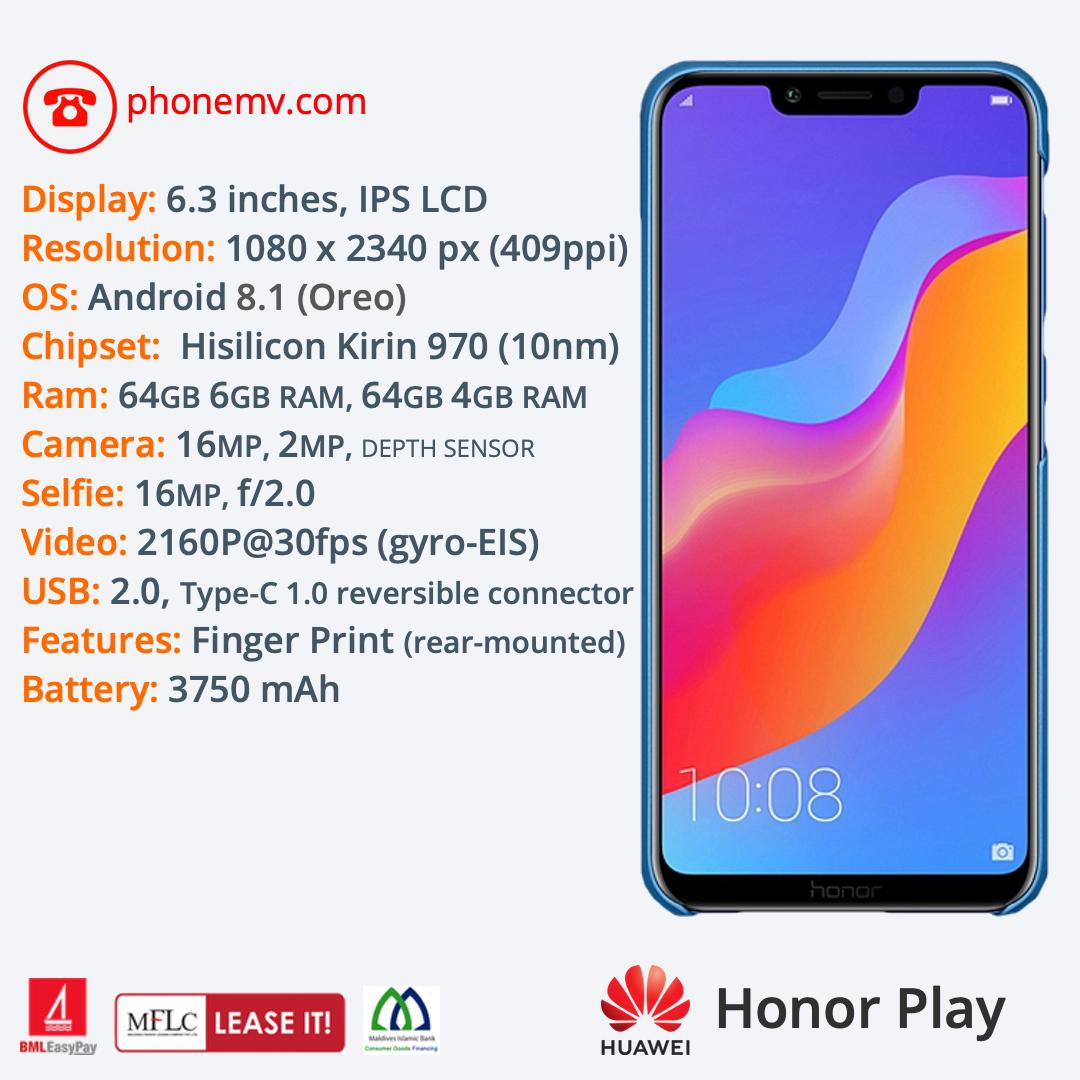 Huawei Honor Play — Phone MV: Male' Maldives best phone seller, shop, online