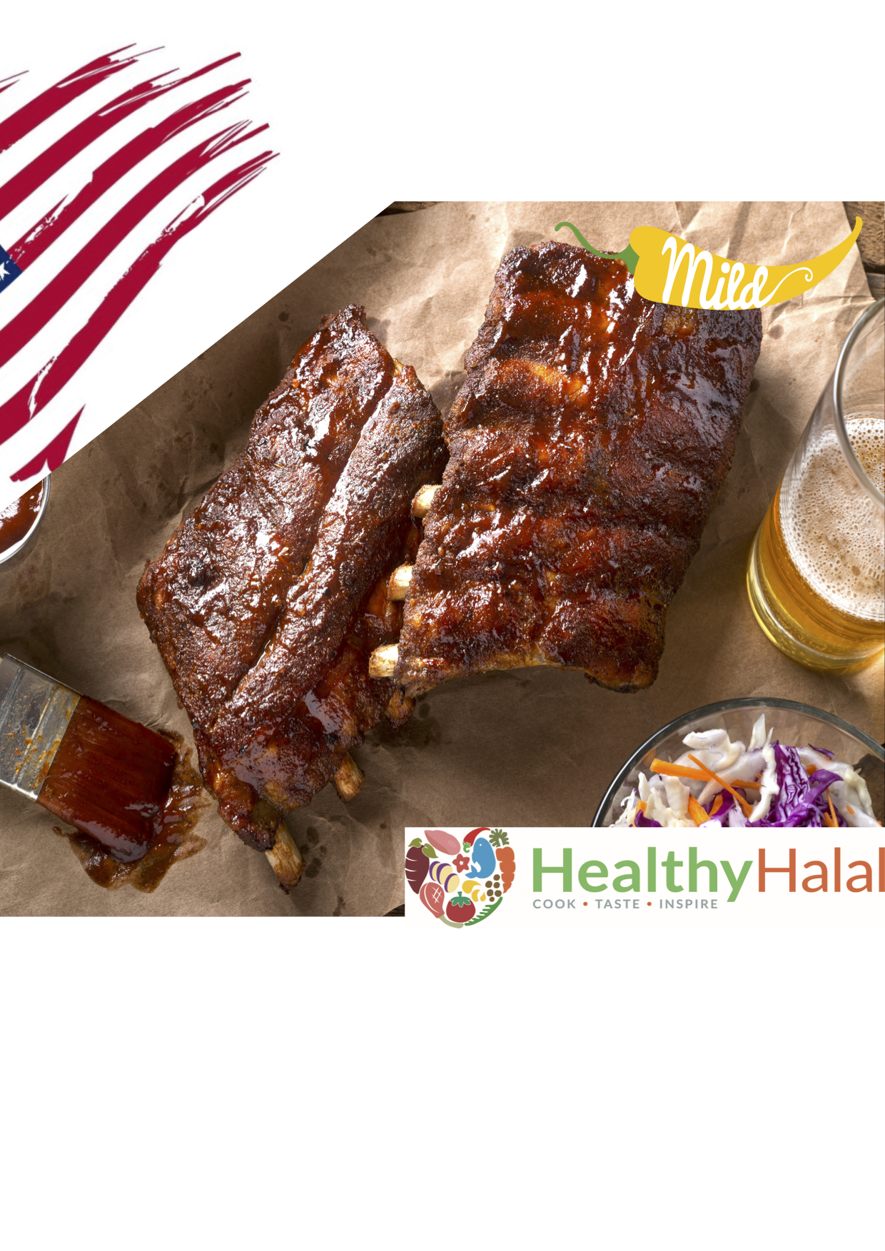 Juicy & Sticky American Inspired BBQ Ribs — Healthy-Halal Online | Halal  Meat Online | UK Next Day Delivery