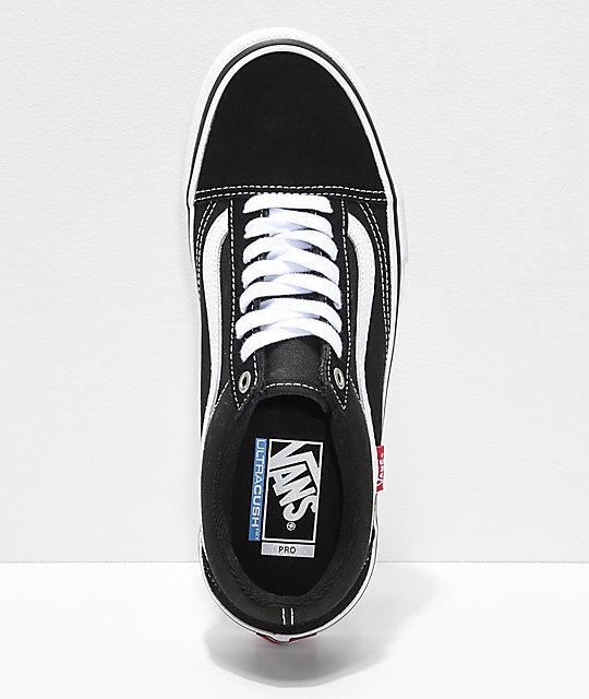 agenda Marchito jefe  Vans Old Skool Pro - Black/White Skate Shoes — West Side Skates