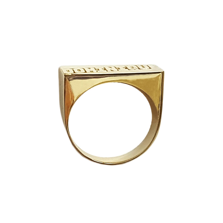 LEE130 10k or 14k Gold 11mm Flower Tail Name Ring