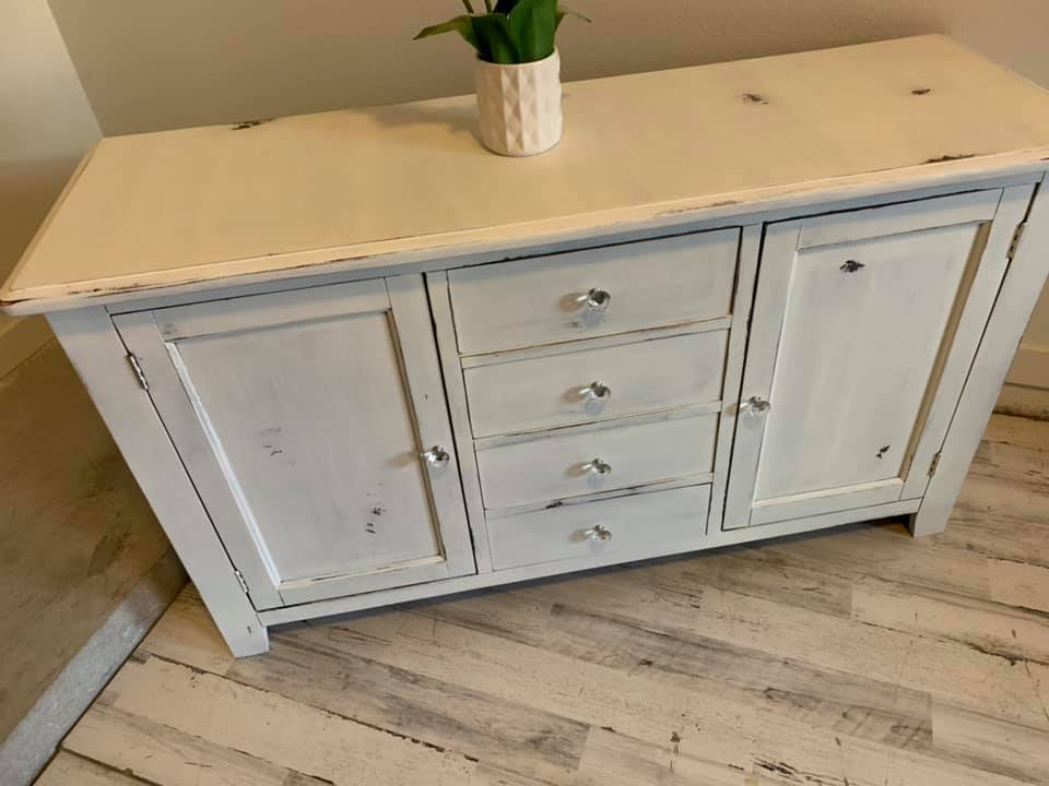 Sold Shabby Chic Rustic Buffet Coop Designs Co