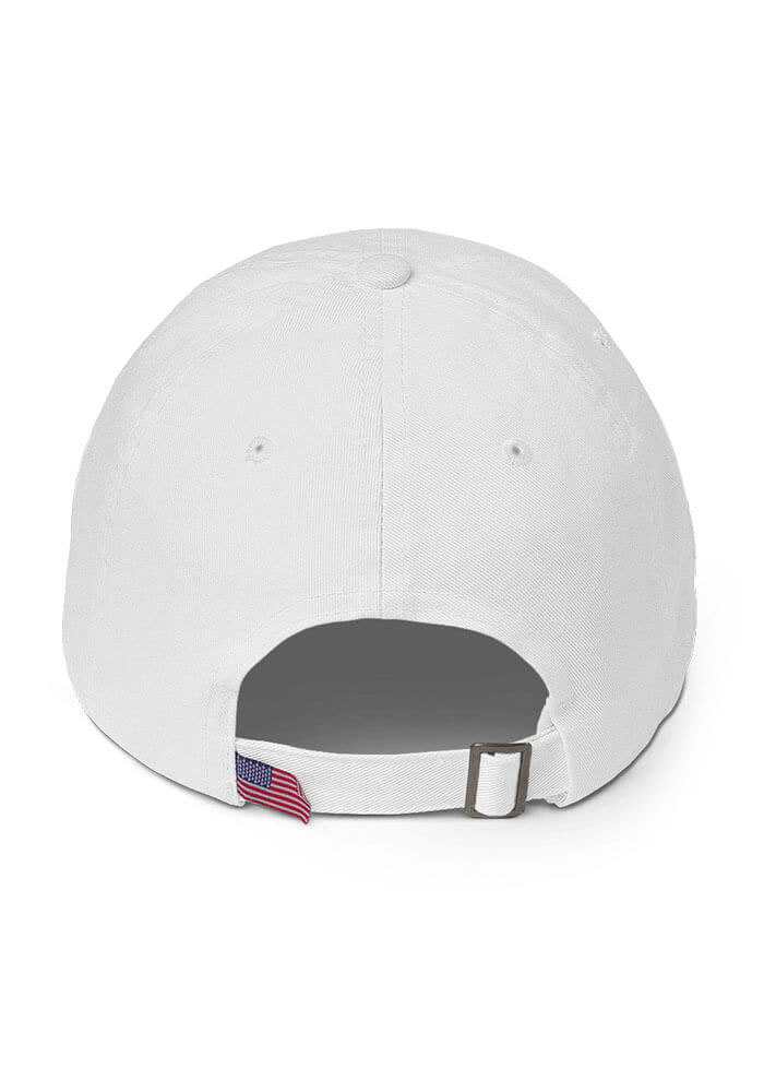 White M 💖A 💖S 💖H Dad Hat with American Flag Tag — Co-Lab Projects