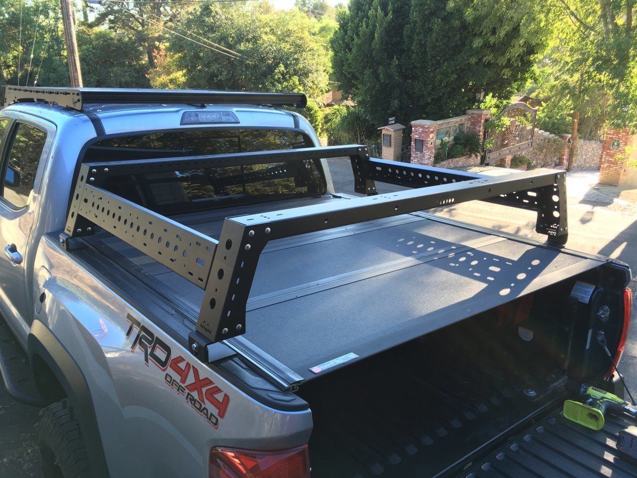Max Modular Bed Rack Tonneau Brackets For Tacoma S With Bakflip