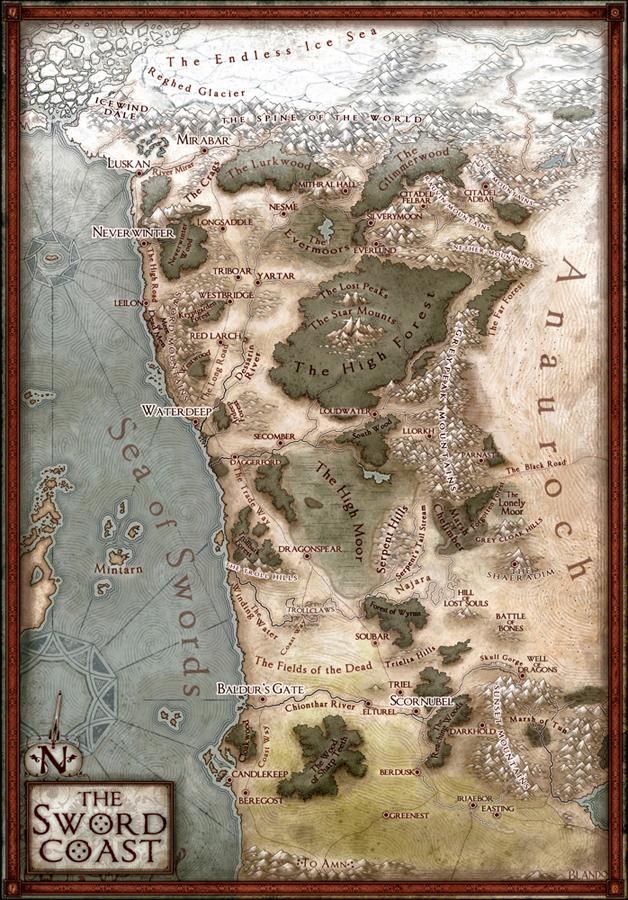 The Sword Coast Campaign Map — Jared Blando
