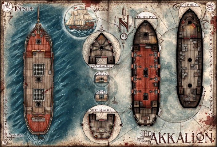 The Akkalion: Multi-Deck Ship Map — Jared Blando