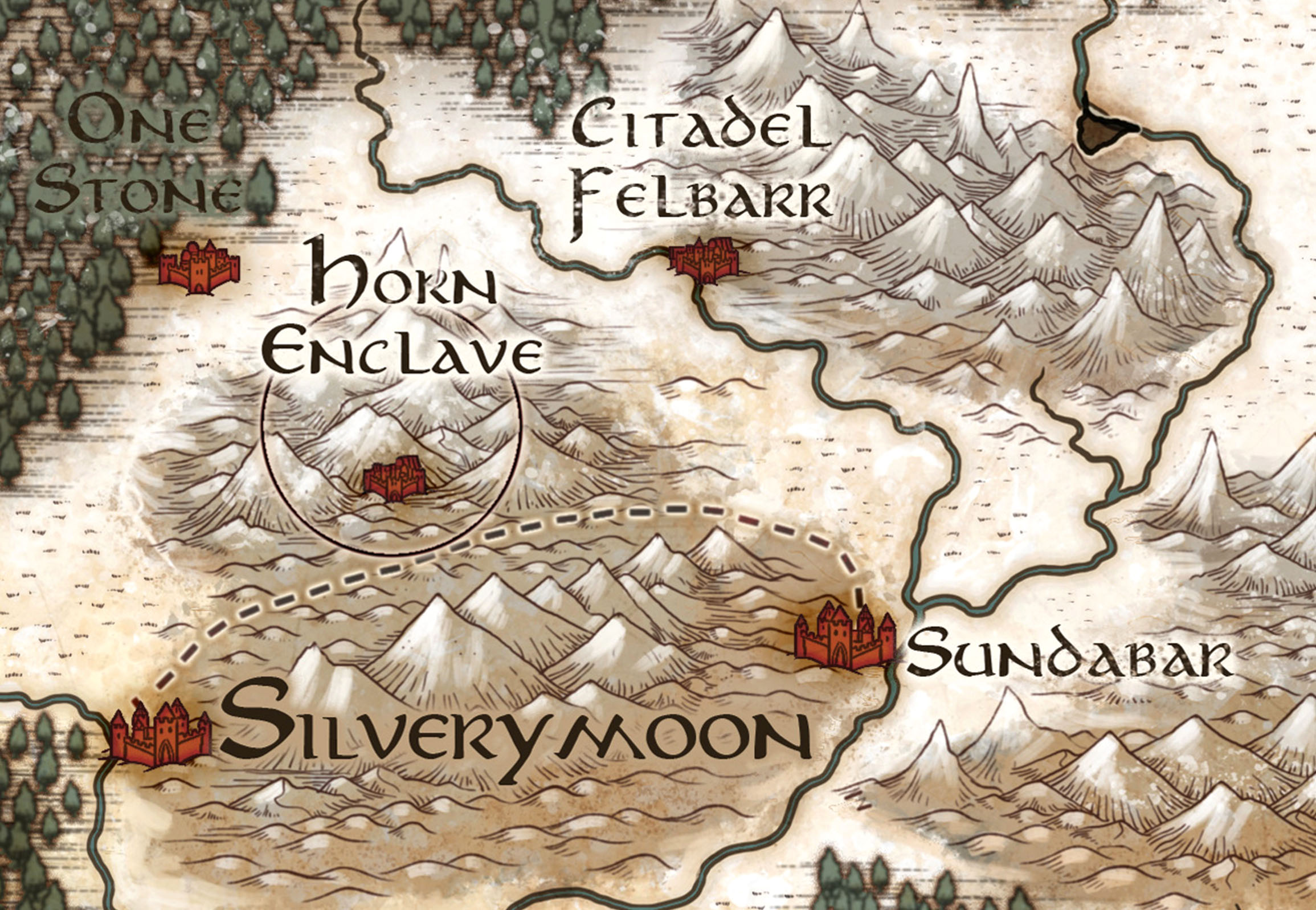The Sword Coast & NE Faerun : A Campaign Map from Episode 2 of Acquisitions  Incorporated — Jared Blando