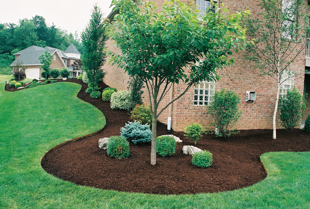 Dyed Brown Triple Shredded Mulch Cornerstone Landscape Supply
