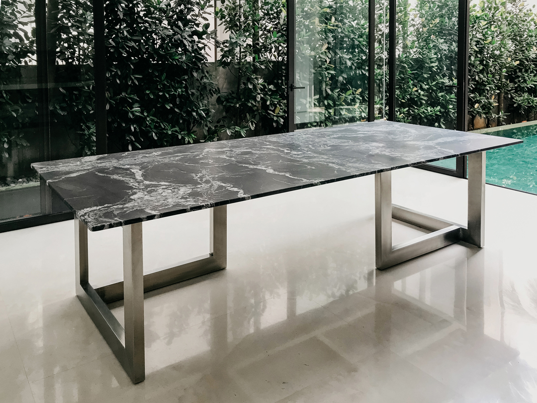 Level Italian Marble Dining Table
