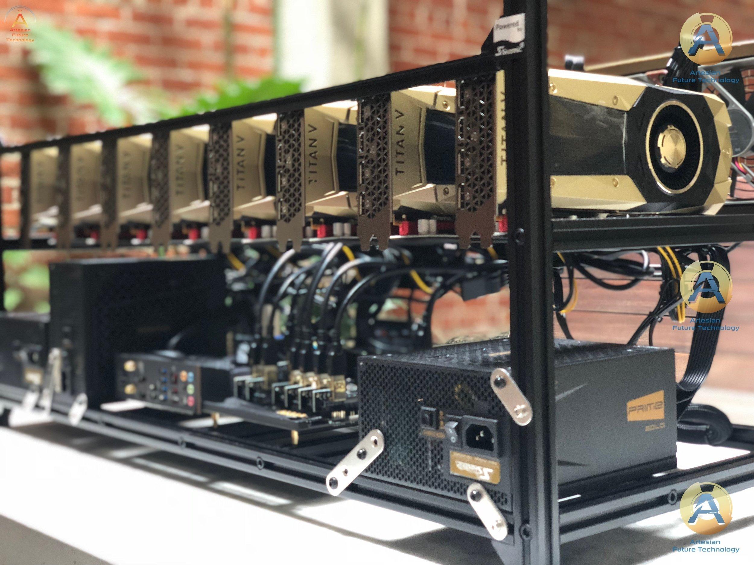TITAN V 8GPU MASTER RIG - world's most powerful GPU miner [TITAN RTX also  available] — Artesian Future Technology