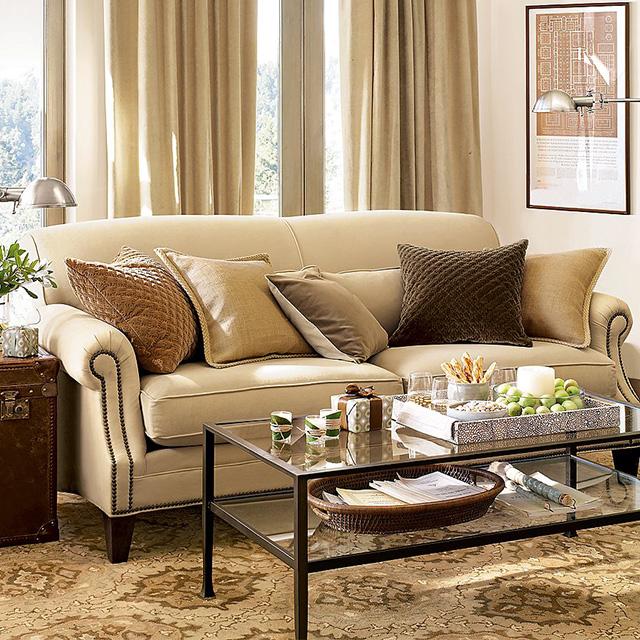 Queenshome Modern living room set comfortable furniture italian fabric sofa  — QUEENS HOME