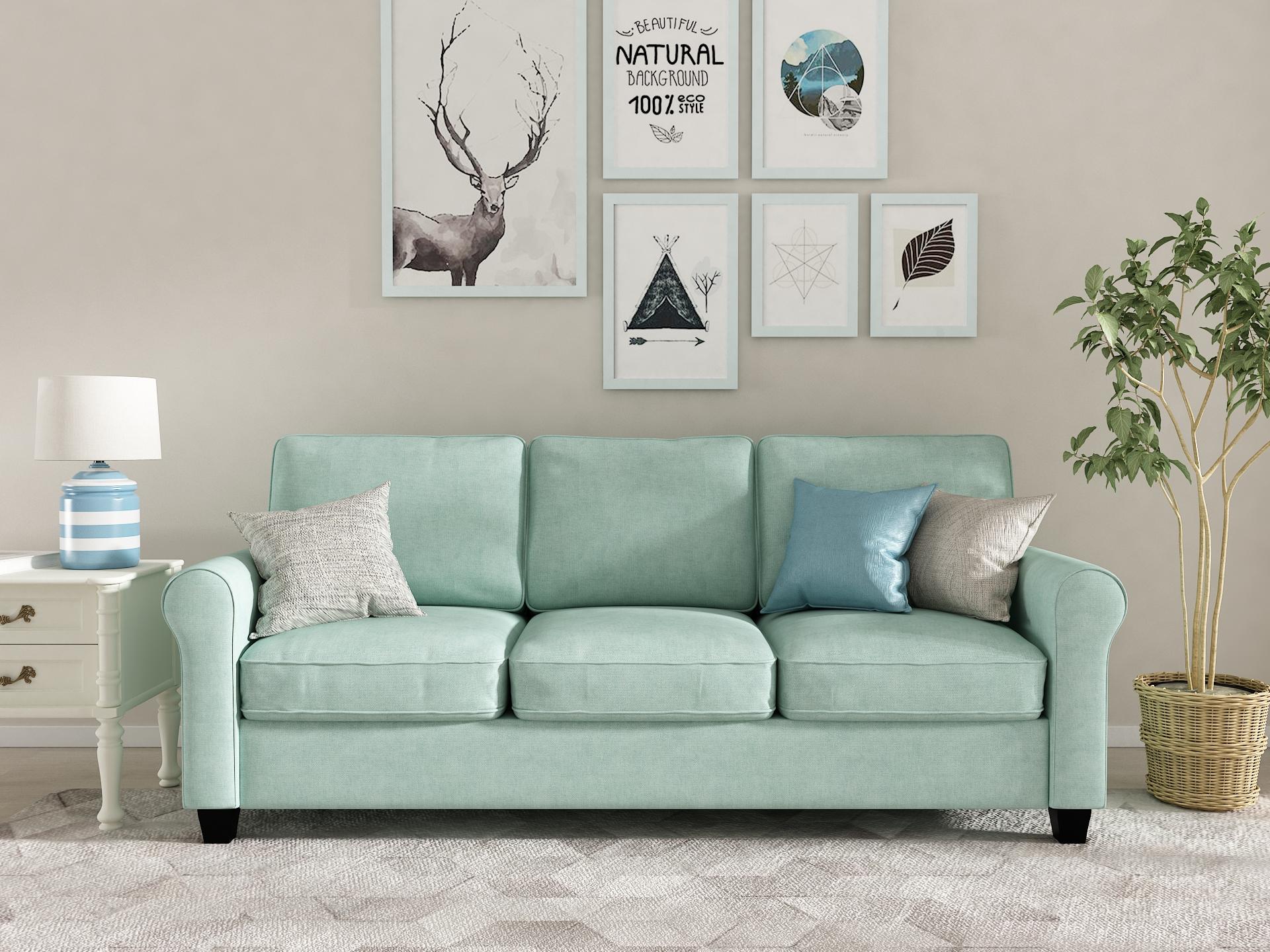Queenshome Modern Wooden Sofa Cama