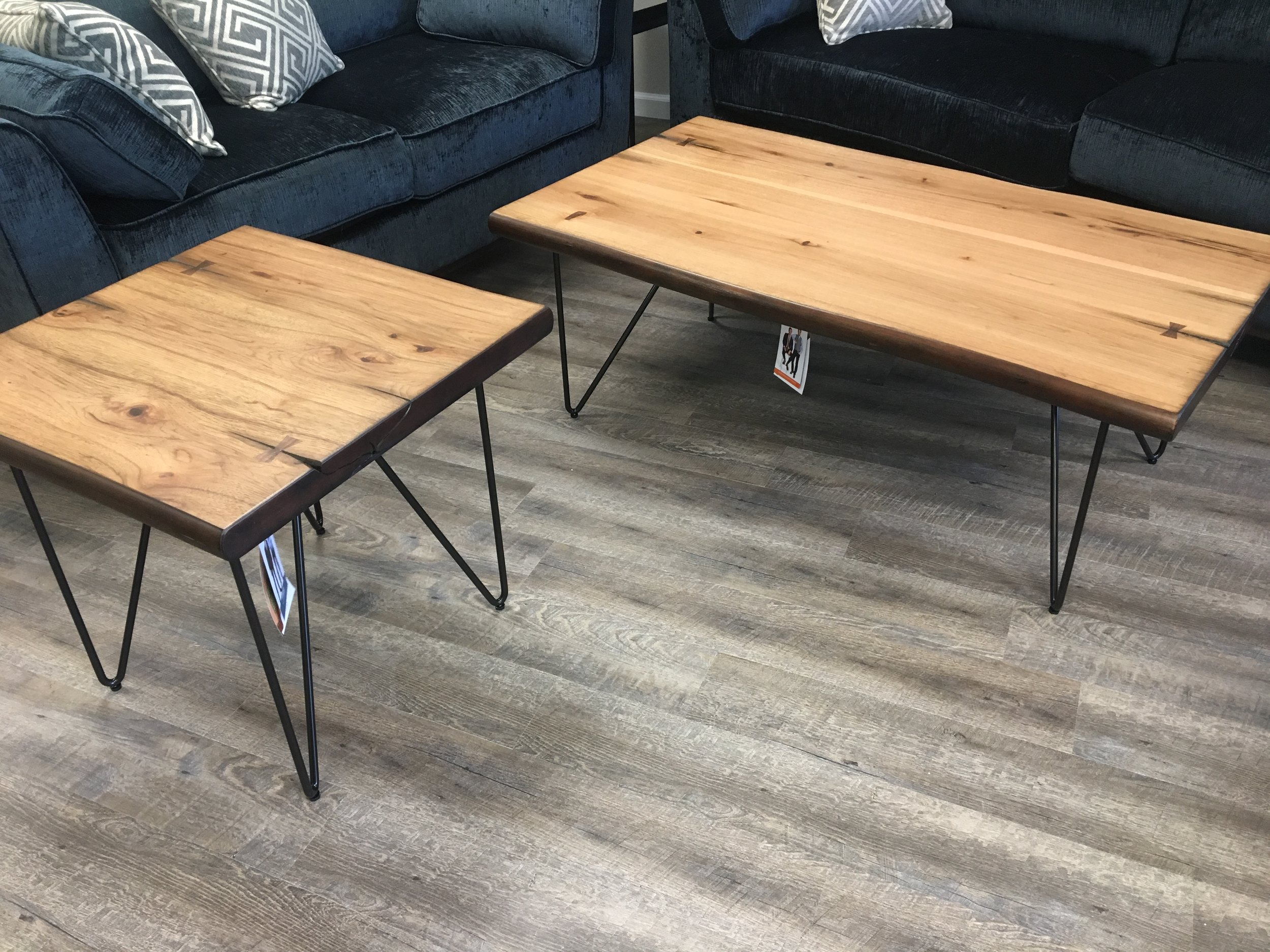 Live Edge Coffee Table With Hairpin Legs Ideal Furniture Of Sc