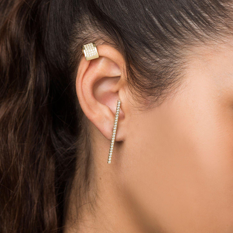 Diamond Cartilage Earring Single Established Jewelry