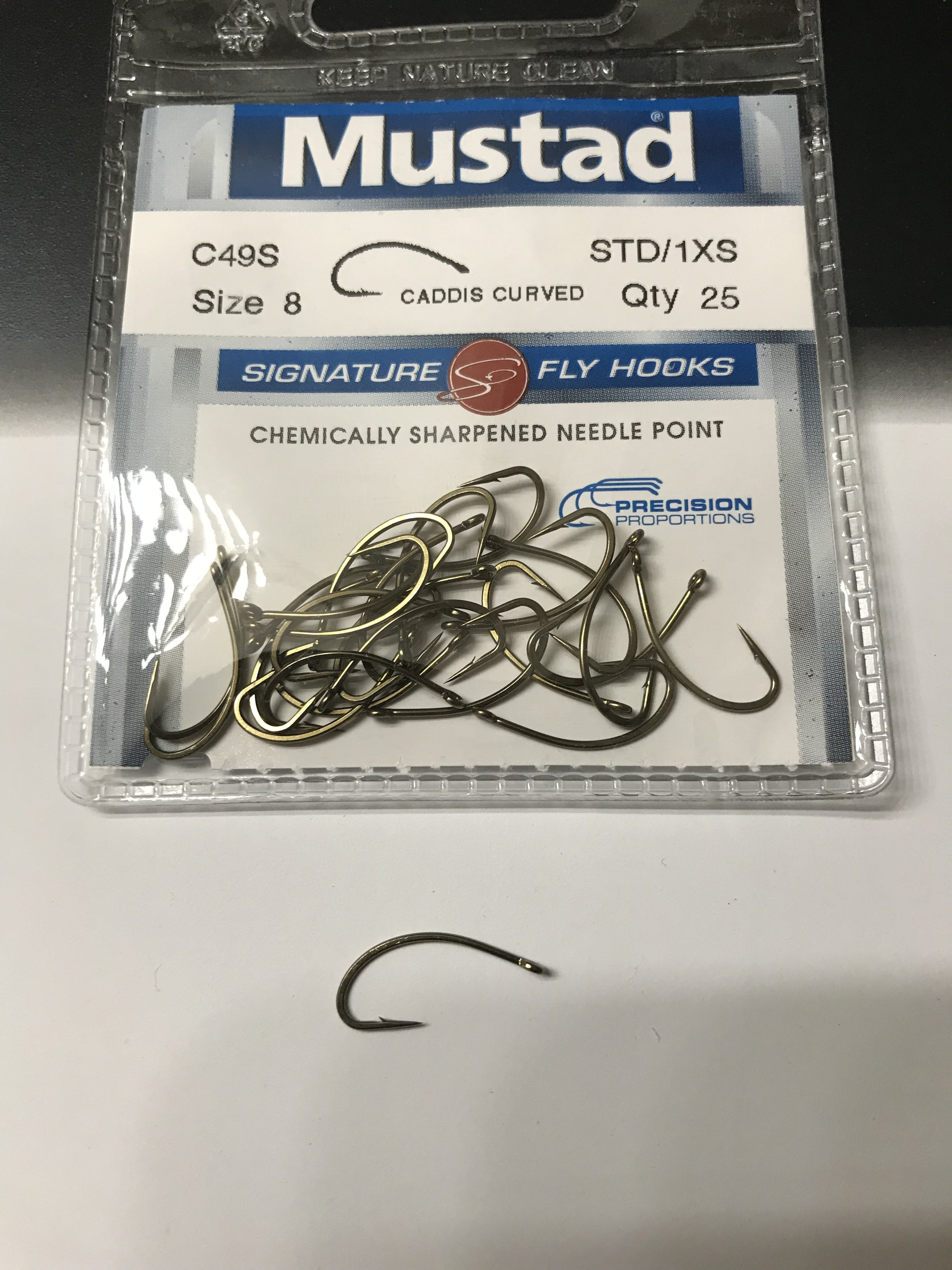 Mustad C49S-Signature Caddis Fly Hook-Pack de 25