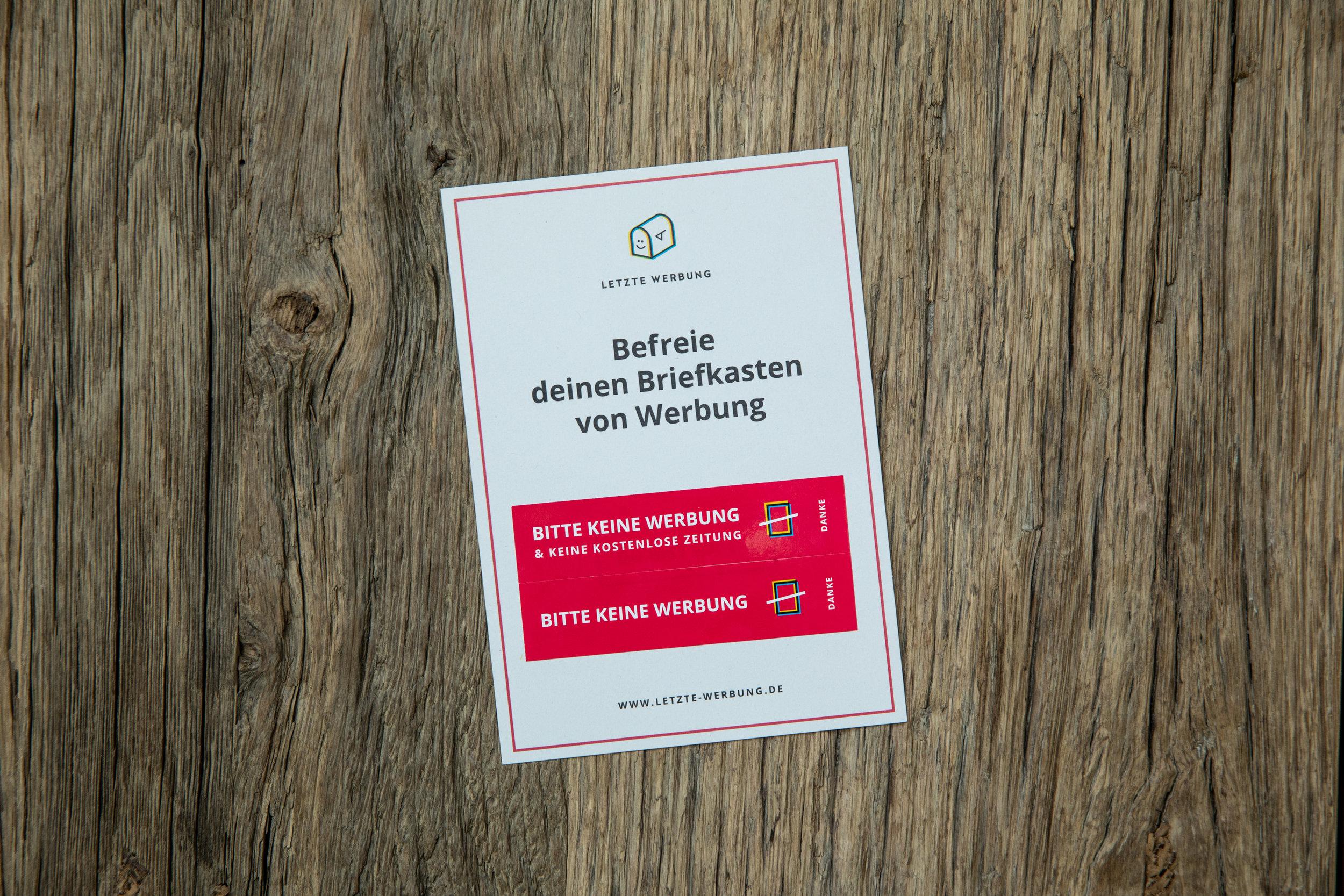 Der Aufkleber Letzte Werbung Die Einfachste Umweltaktion Deutschland