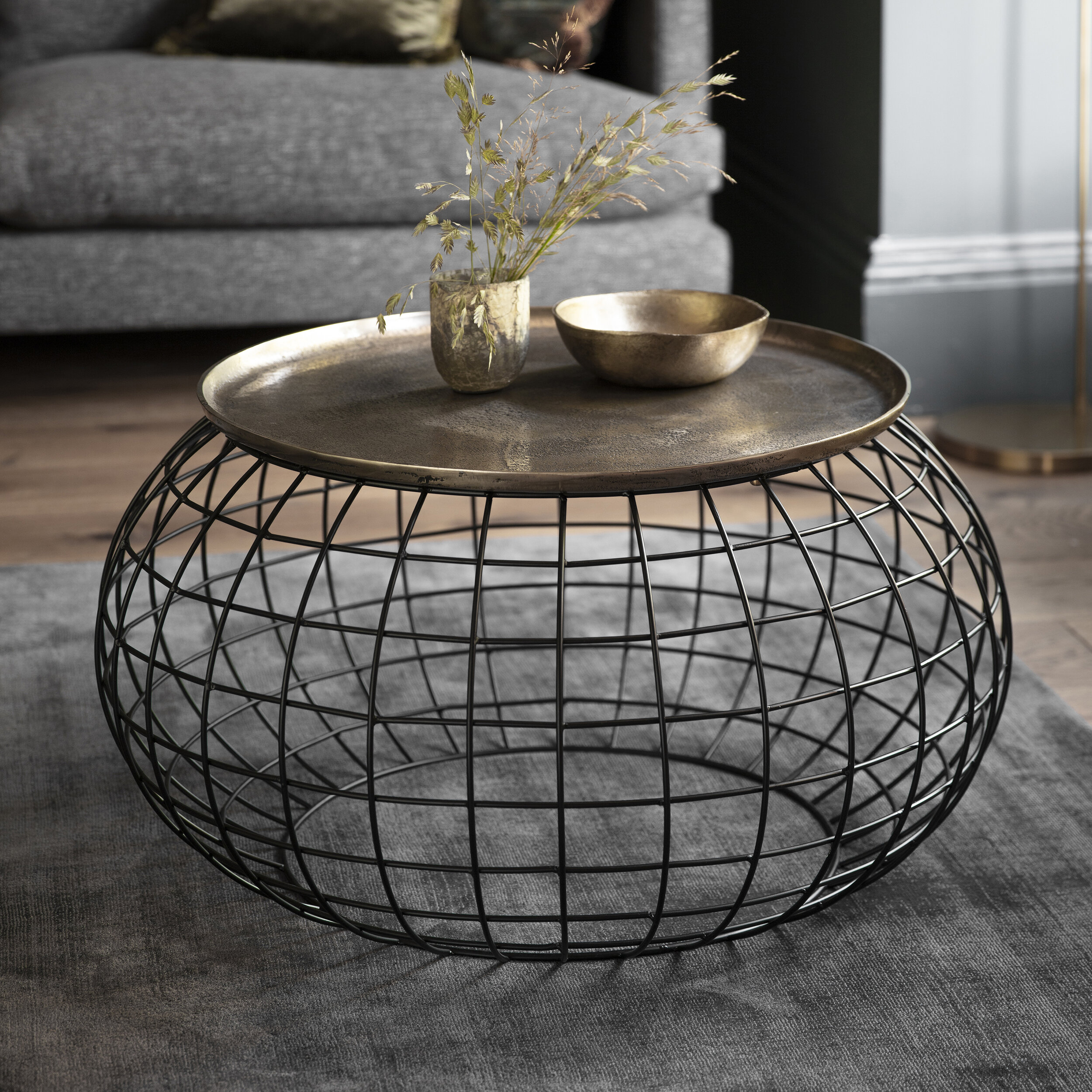 - Rowen Coffee Table Antique Gold — Blue Antler Interiors