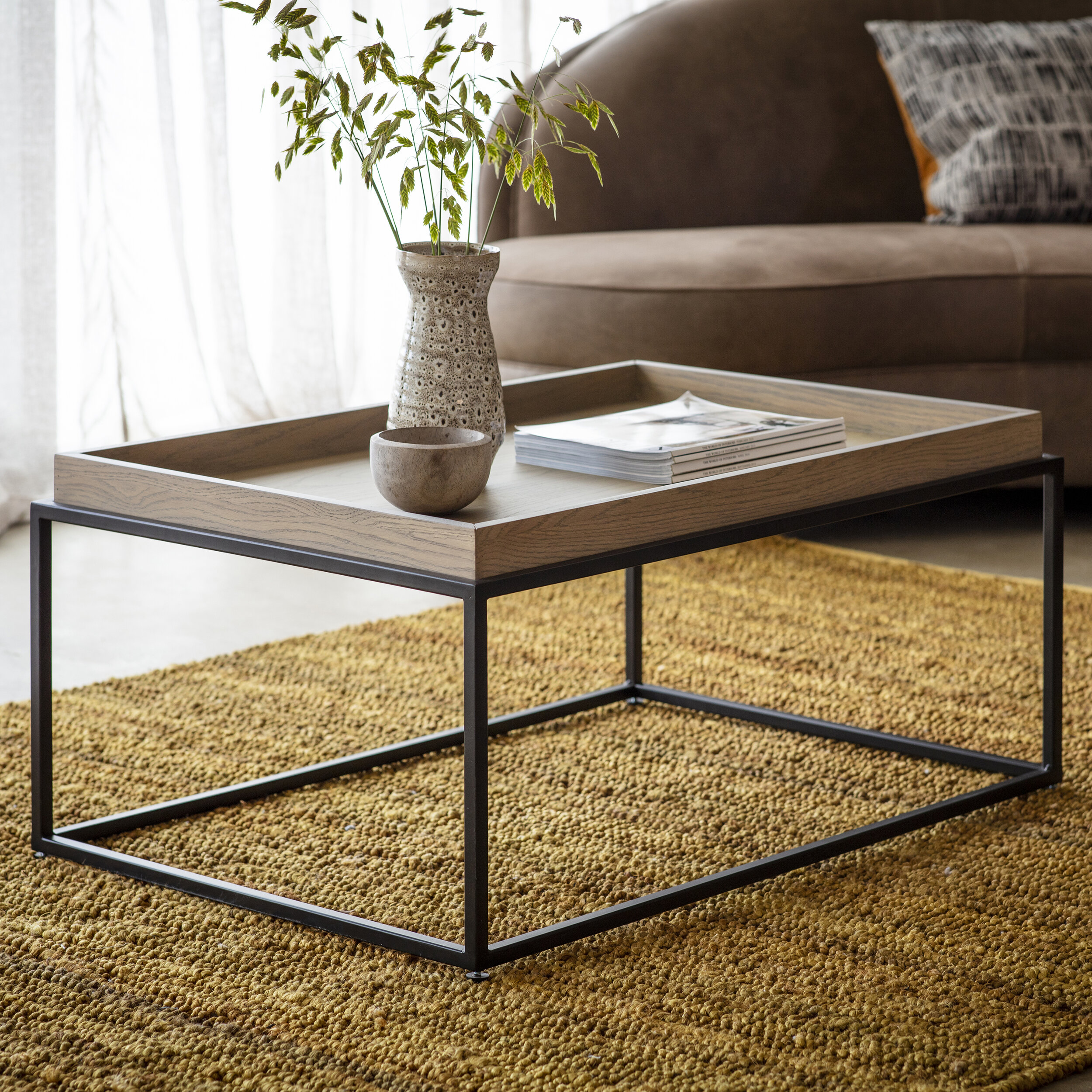 - Forden Tray Coffee Table Grey — Blue Antler Interiors