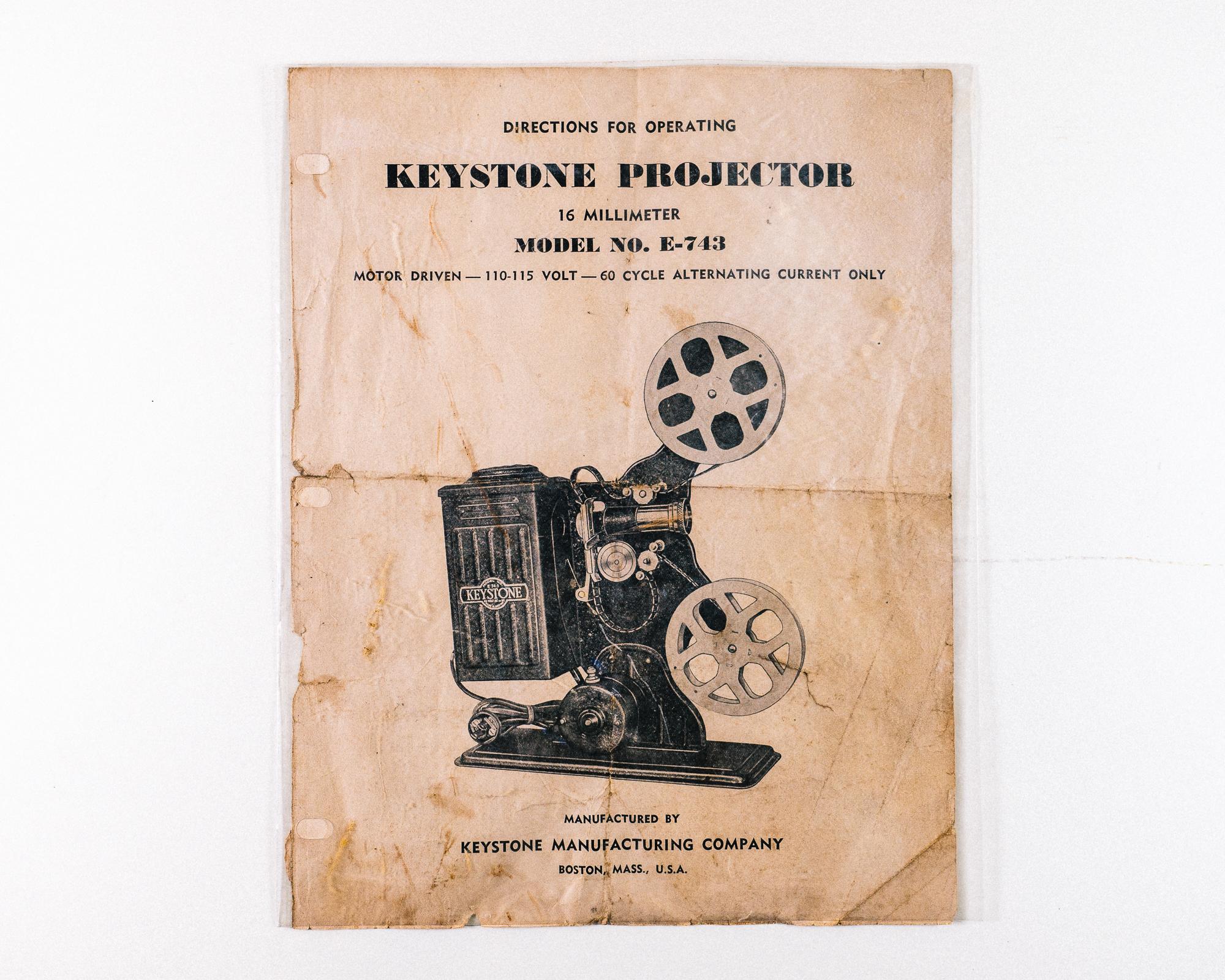 Keystone 16mm Film Movie Projector — Wilderness Trading Co