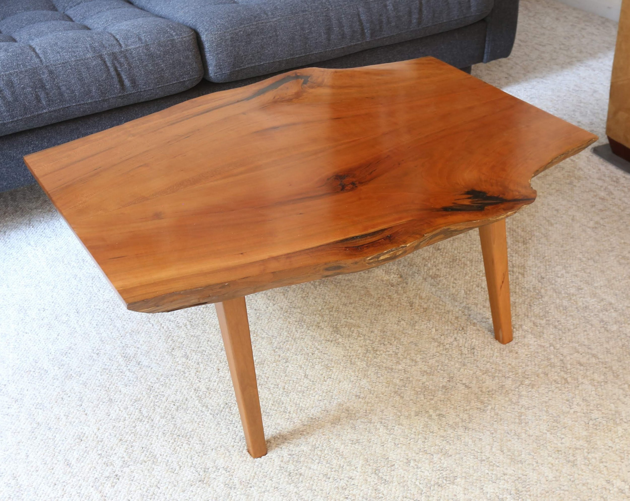 Cherry Coffee Table Bookmatched Live