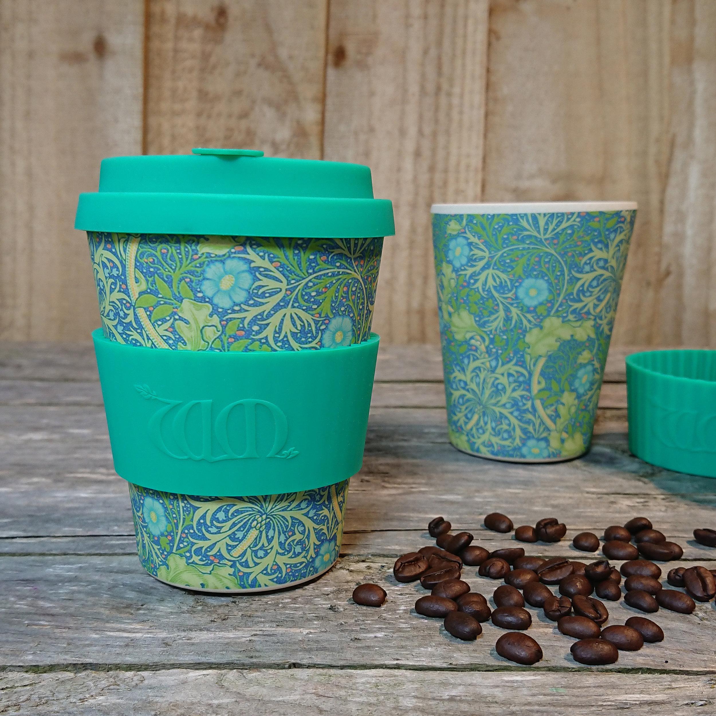 Papafranco Eco Friendly Ecoffee Cup 12oz Reusable Bamboo Fibre Travel Mug