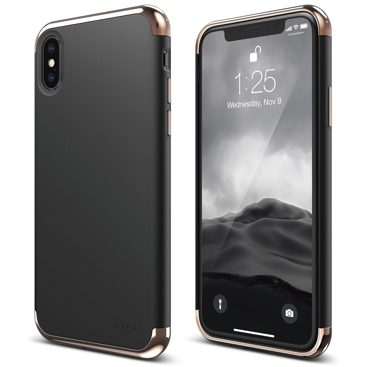 uk availability 27bfc 9ebaf Empire Case for iPhone X - Rose Gold/Black