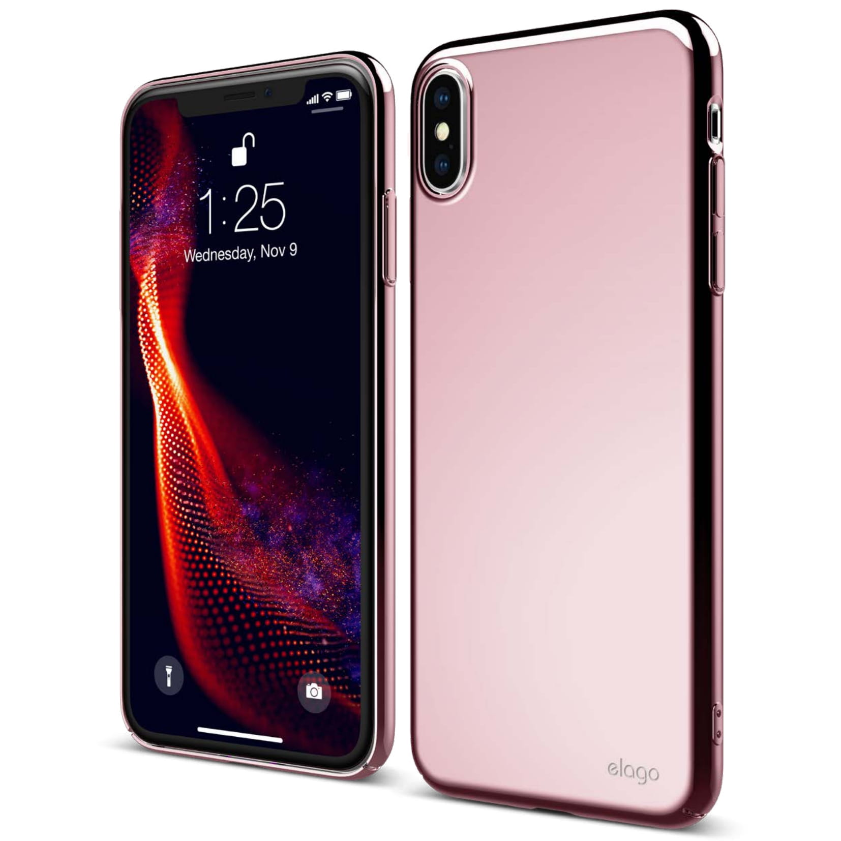 Slim Fit Case for iPhone XS MAX , Metallic Rose Gold \u2014 elago