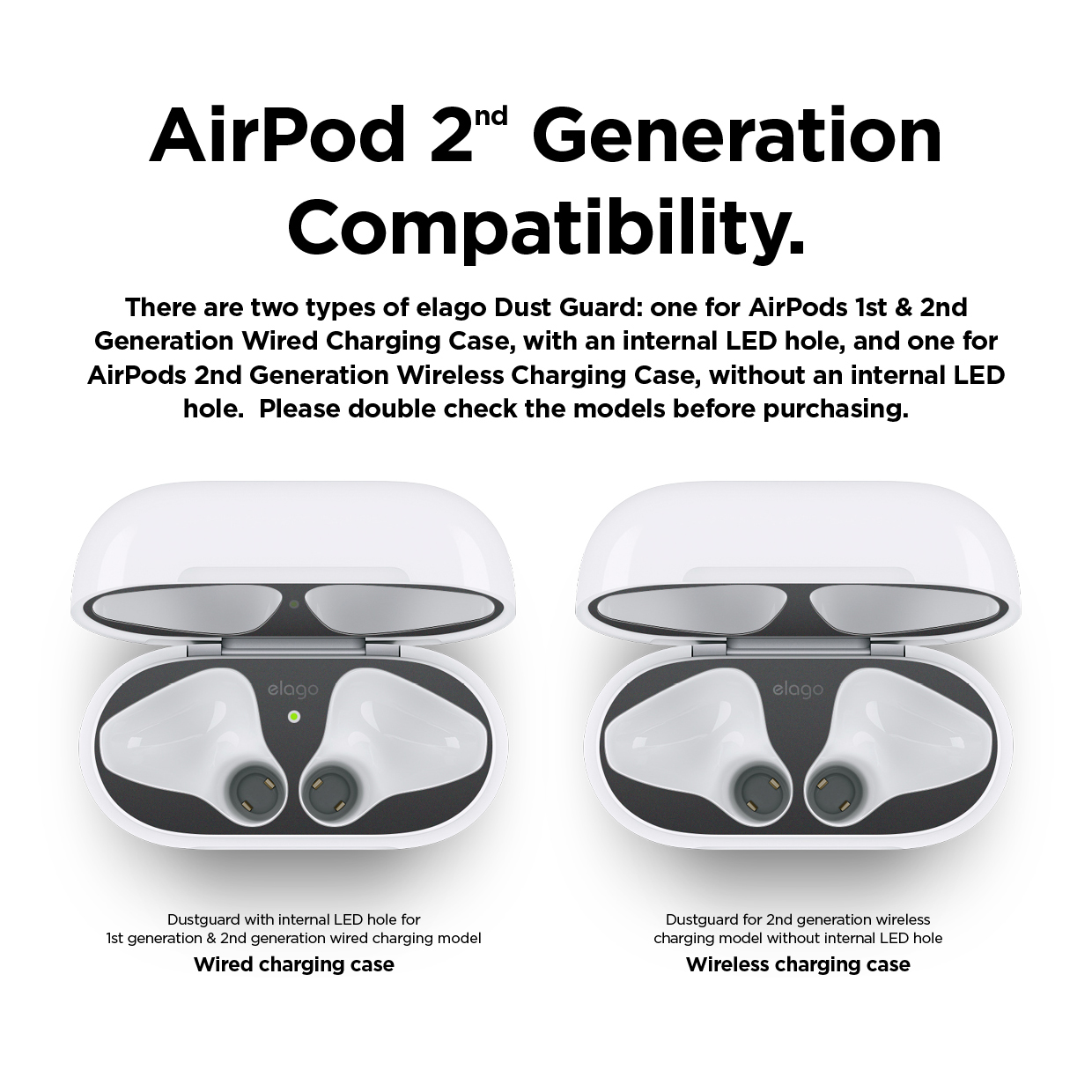 A2 Dust Guard Matte Space Grey For Airpods 2 Wireless Charging