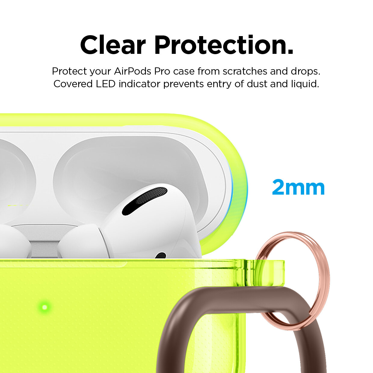 Airpods Pro Clear Case Neon Yellow Elago