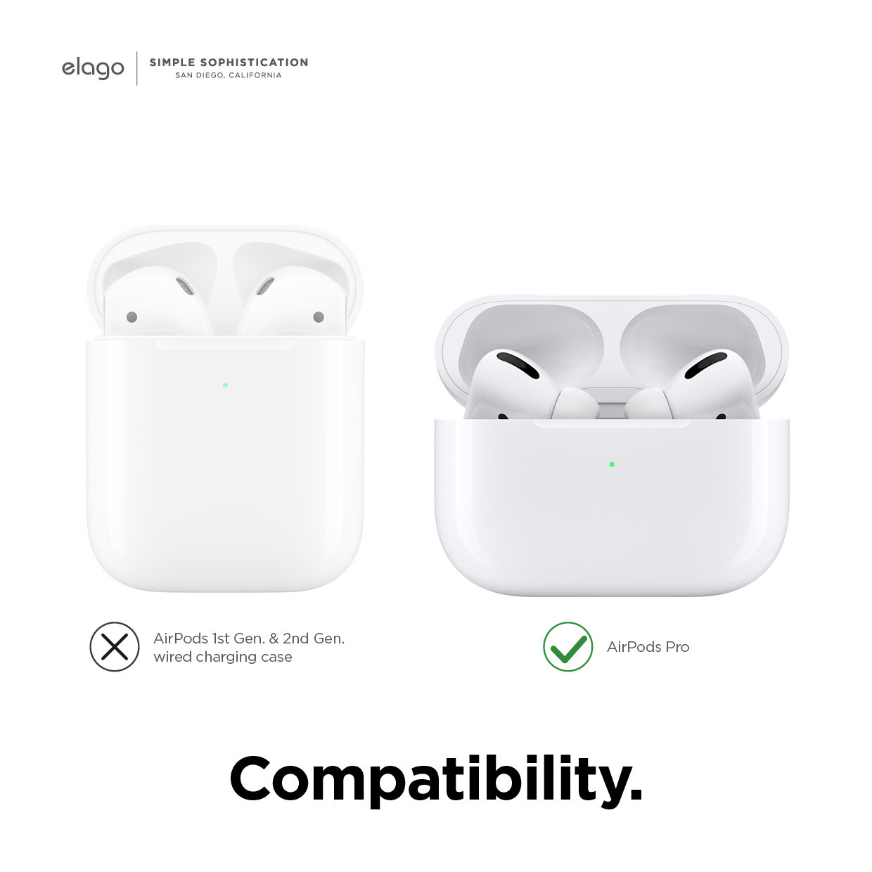 Airpods Pro Ear Tips Cover 2 Pairs 3 Colors Elago