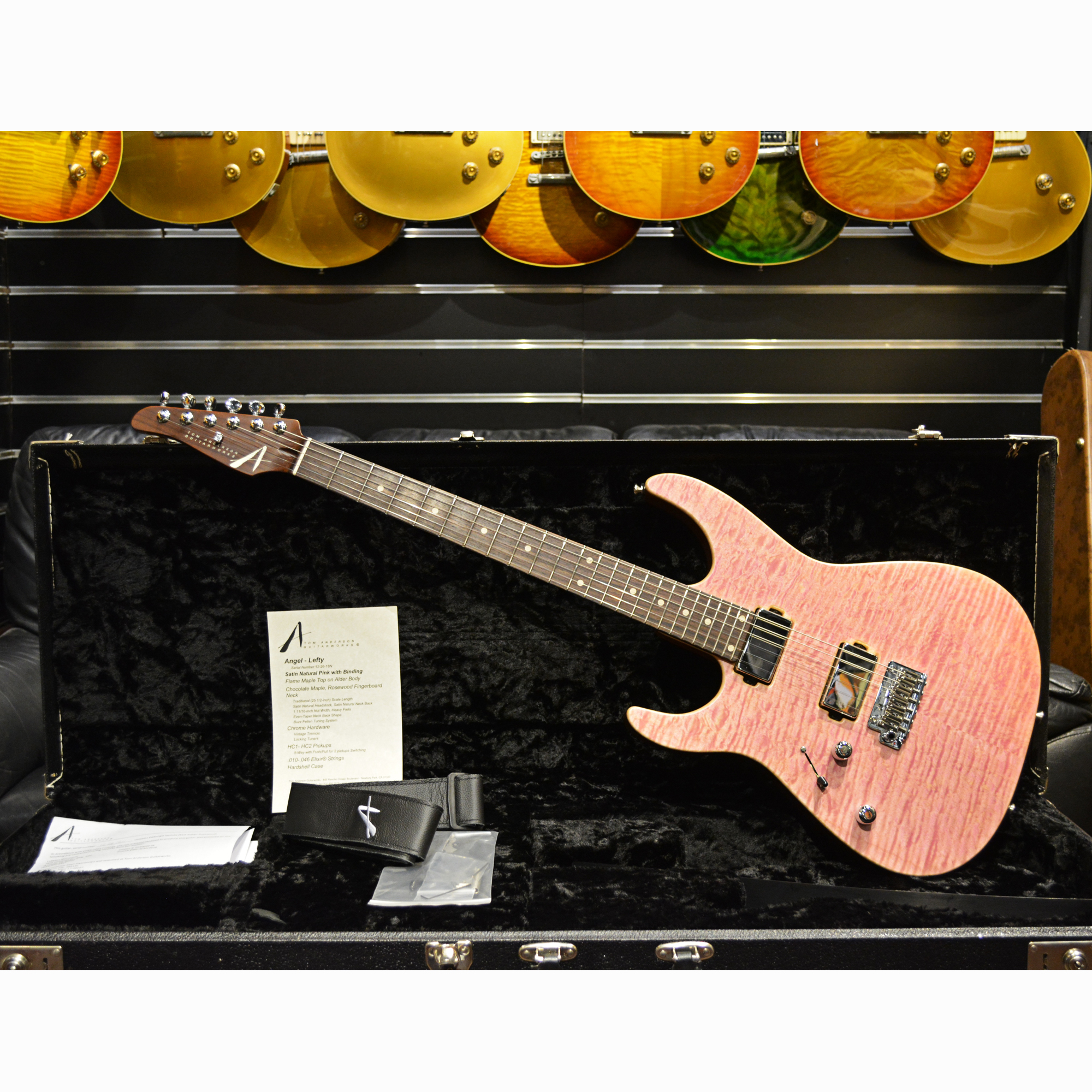 Tom Anderson Angel Shell Pink Stain Lefty — Guitarsofa