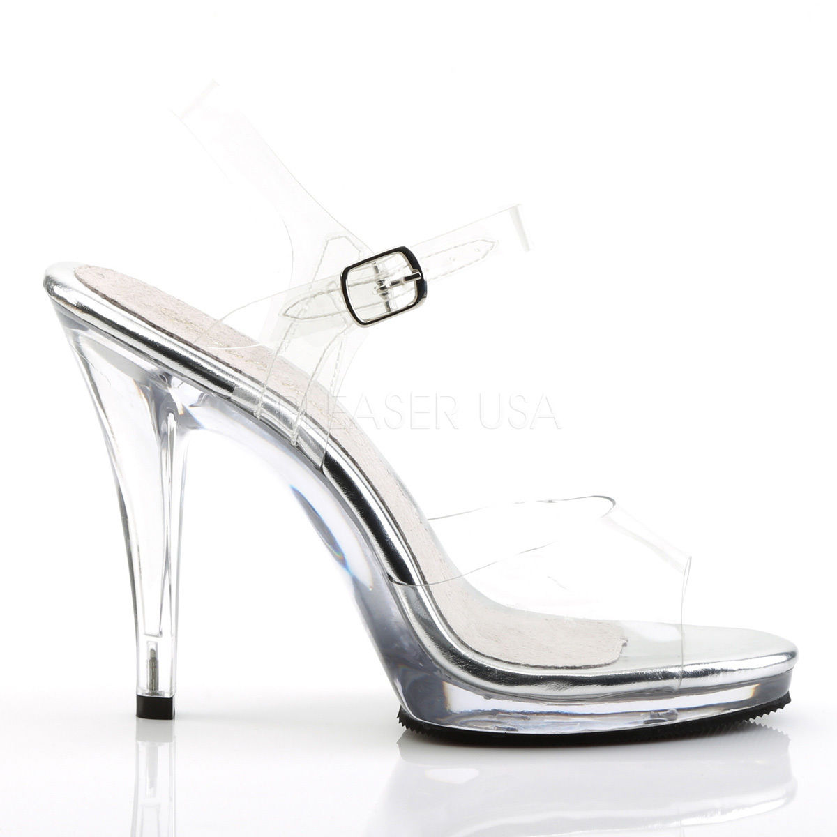 Pleaser Flair 408 Pleaser Heelssilver Flair VMUpzS