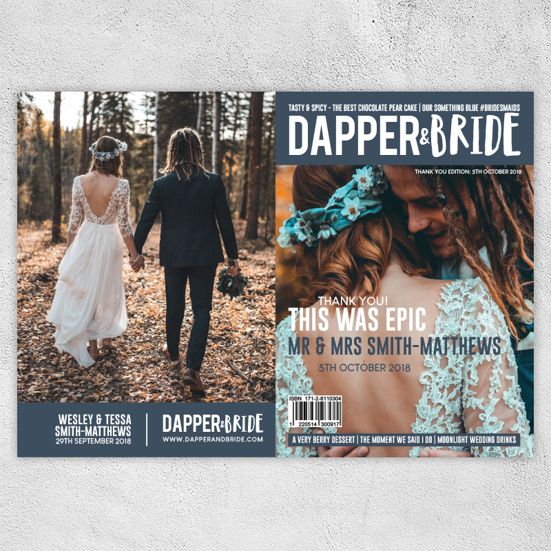 Dapper & Bride Thank You Cards — Dapper & Bride - Your Personalised Wedding  Magazine
