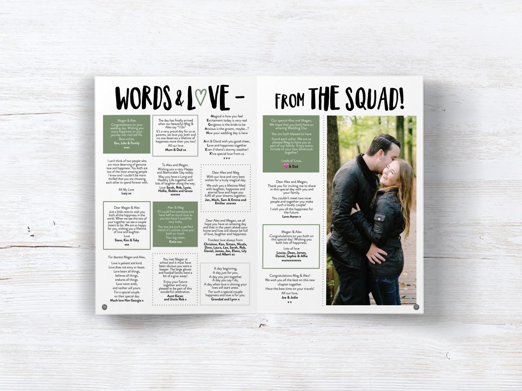 Personalised Wedding Magazine - On the Day — Dapper & Bride - Your  Personalised Wedding Magazine