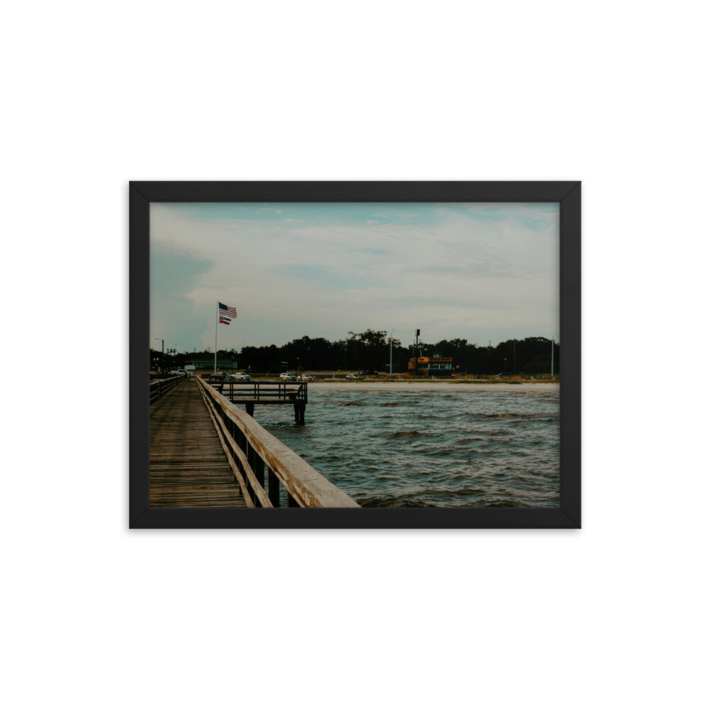 Biloxi Mississippi Beach Landscape Wall Art